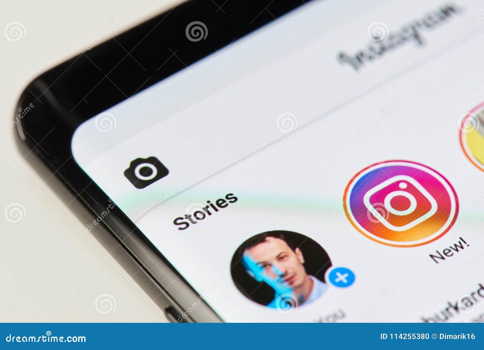 Het toevoegen van nieuw verhaal op instagram app