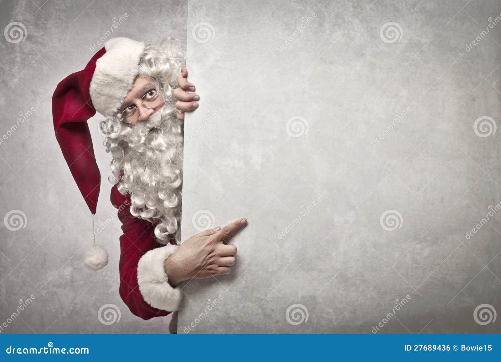 Het tonen van de Kerstman