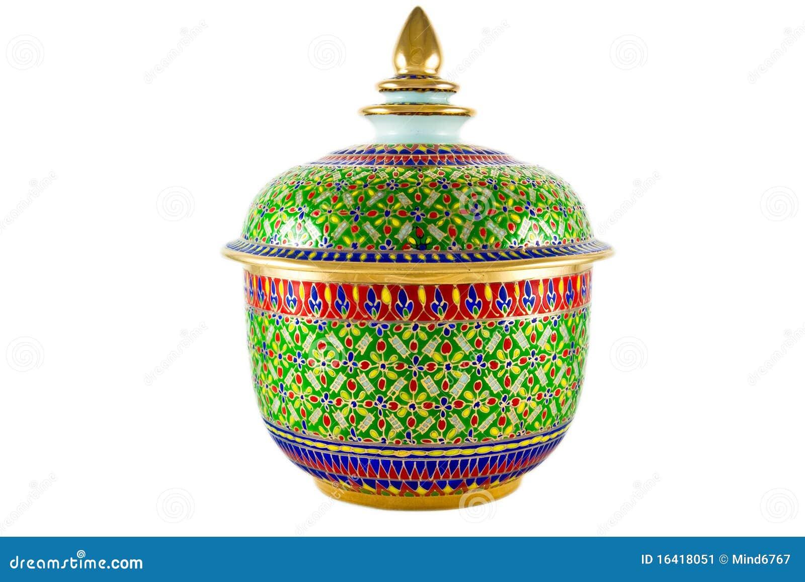 Het traditionele art van de porselein thaise stijl stock afbeelding afbeelding 16418051 - Decoratie stijl van de bergen ...