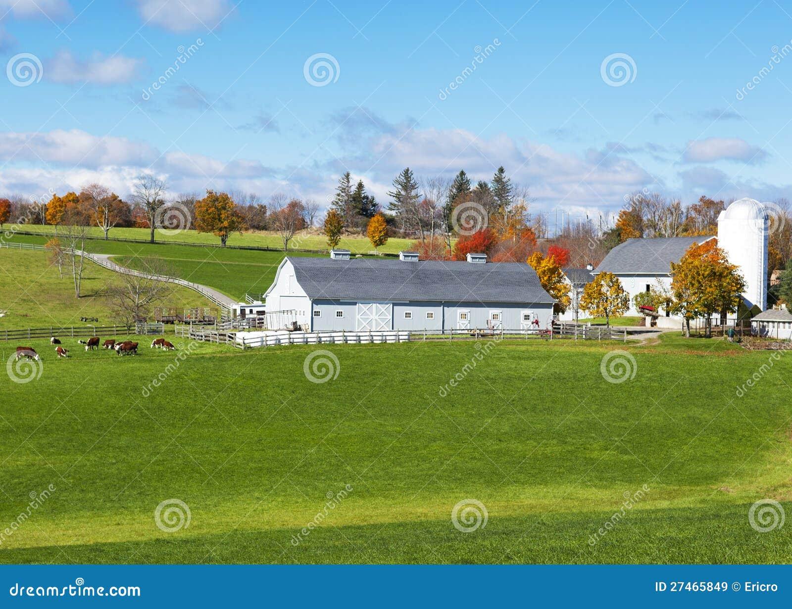 Het traditionele landbouwbedrijf van New England