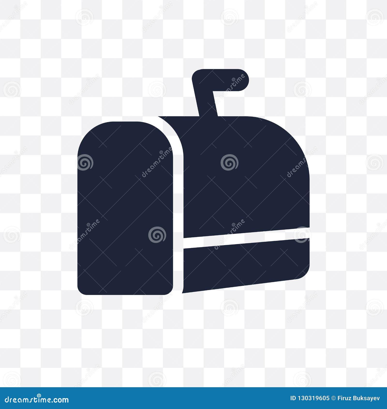 Het transparante pictogram van de Kerstmisbrievenbus het symbool D van de Kerstmisbrievenbus
