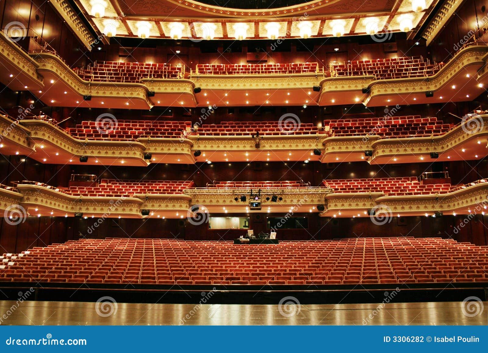 Het trefpunt van het theater