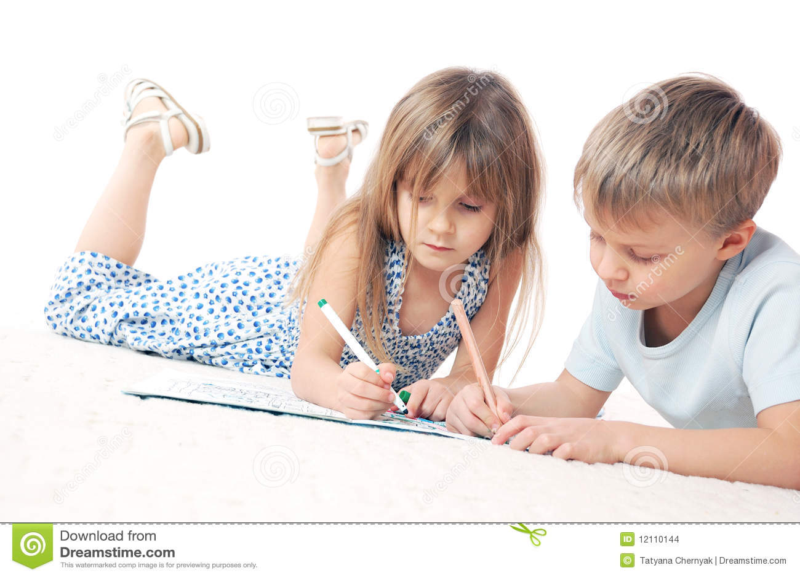 Het trekken van kinderen