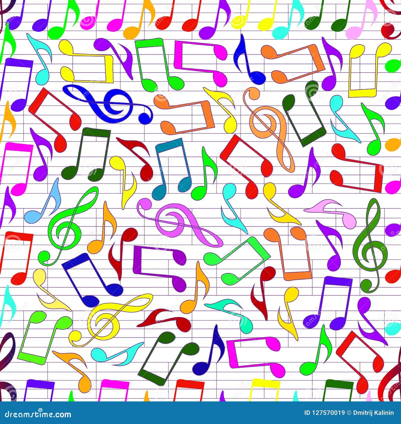 Het trekken van muzieknoten