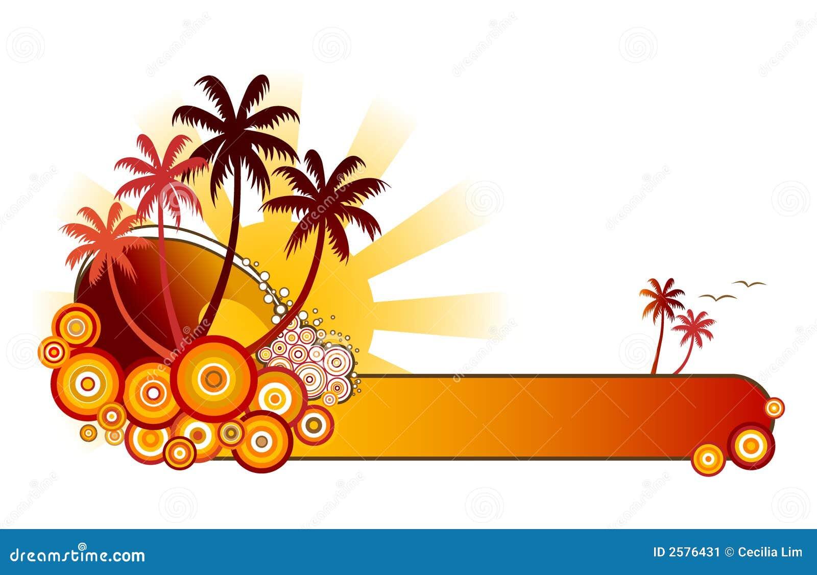 Het tropische banner-Rood van het Strand