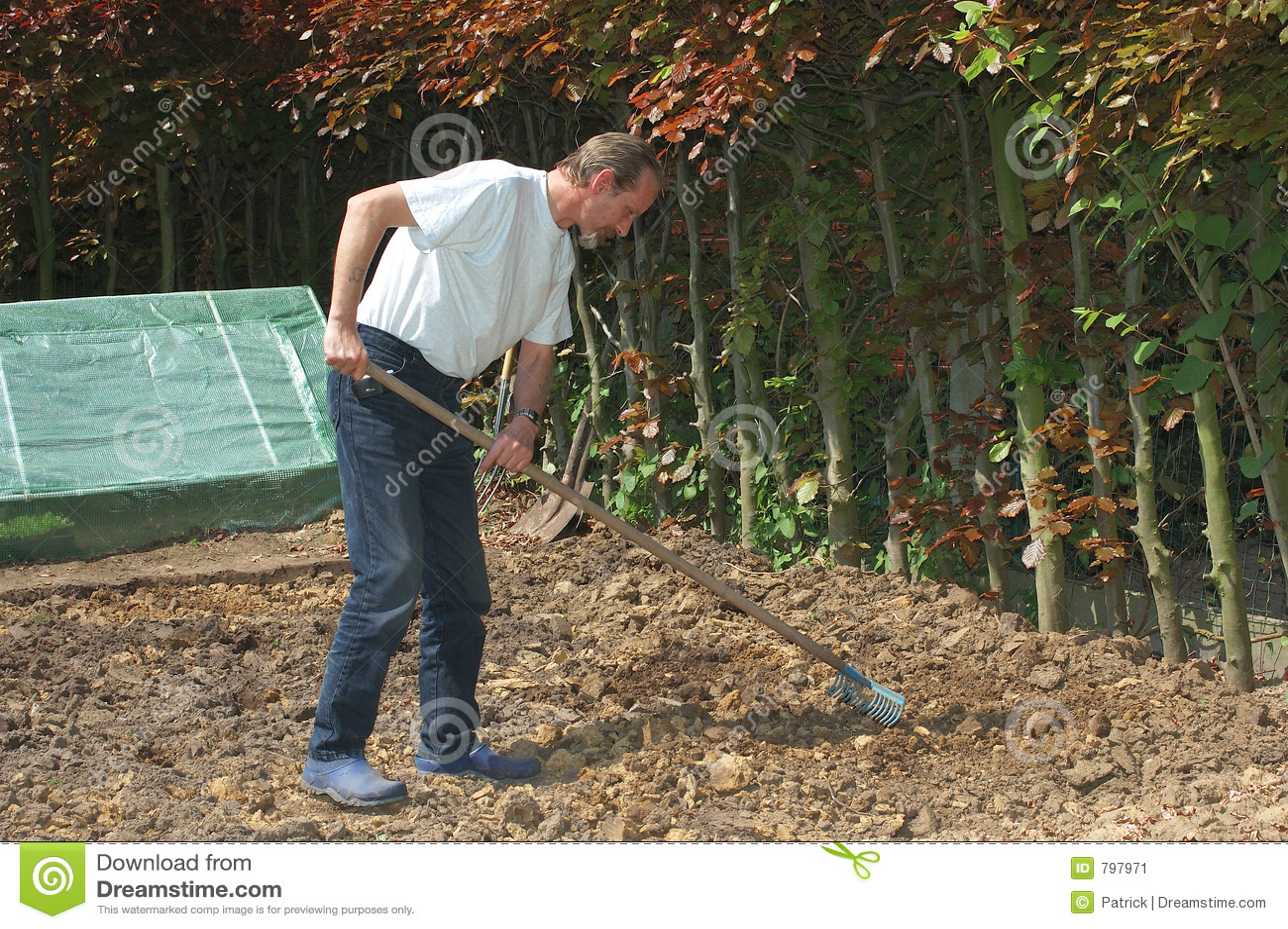 Het tuinieren.