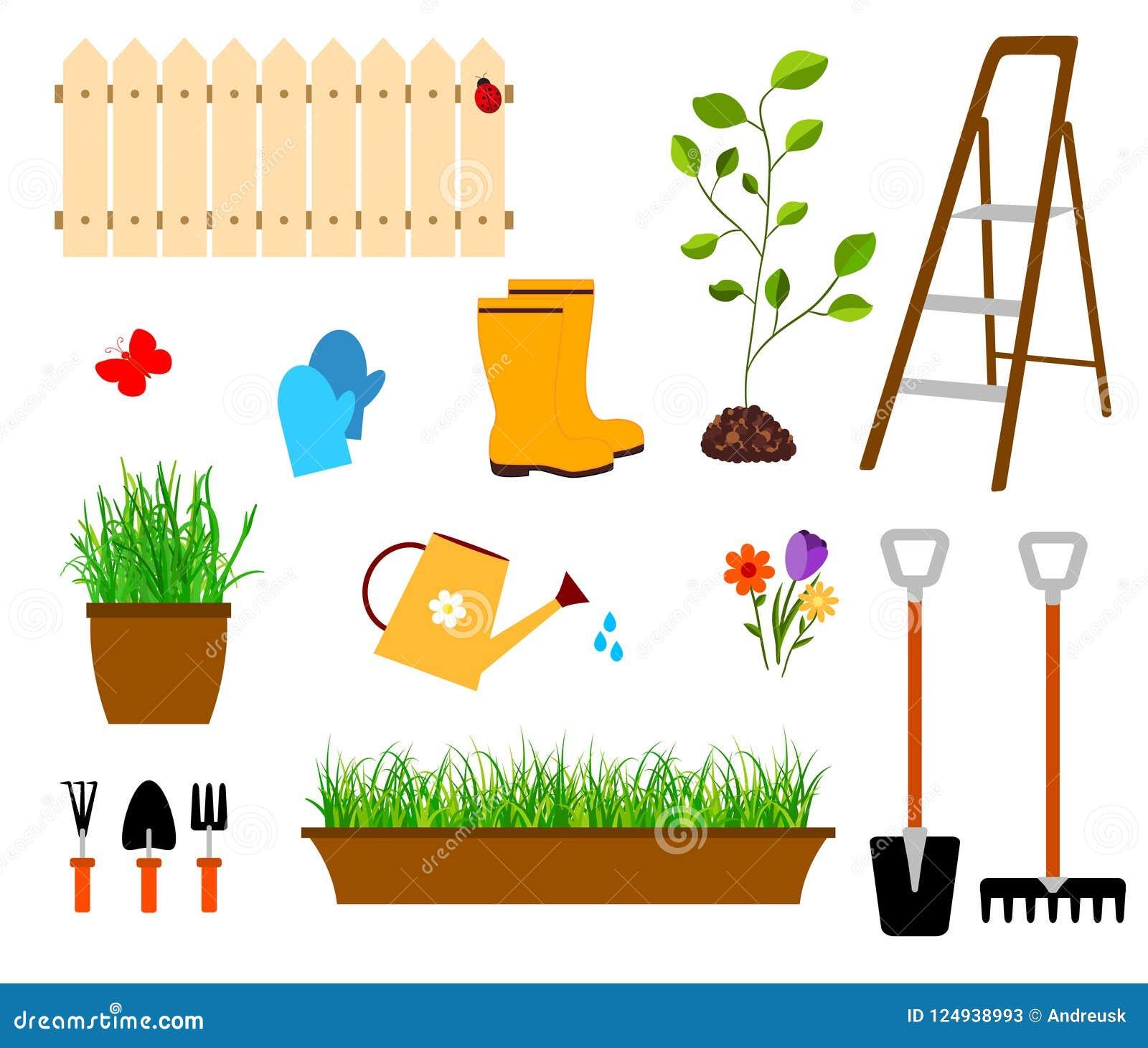 Het tuinieren hulpmiddelenvector