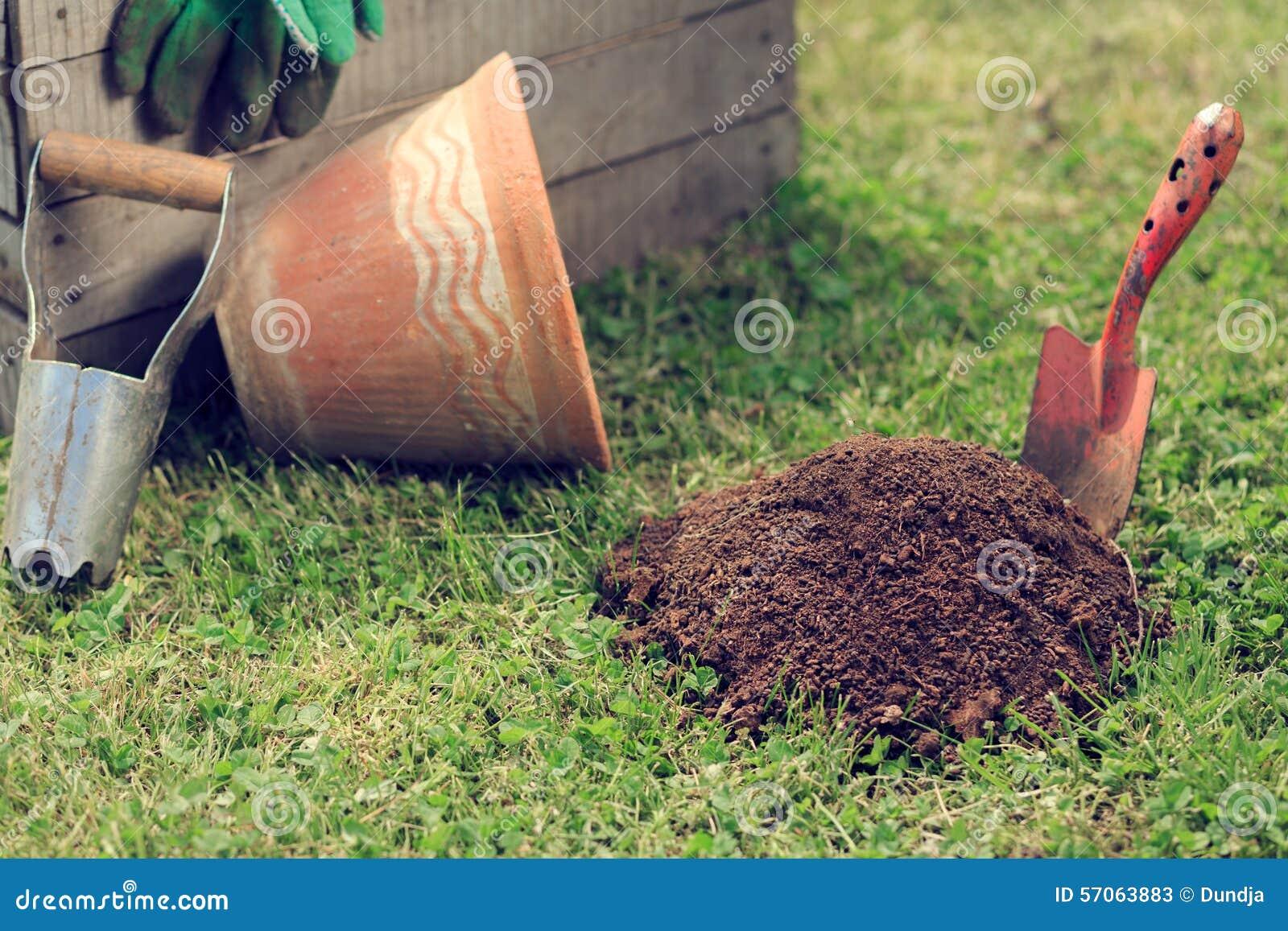Het tuinieren nieuwe hulpmiddelen, rietdienblad
