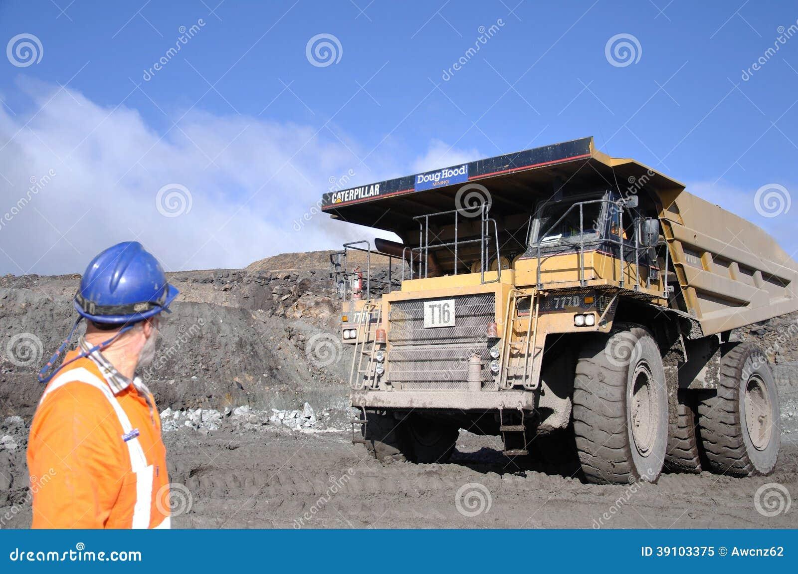 Het uitgraven van de steenkool