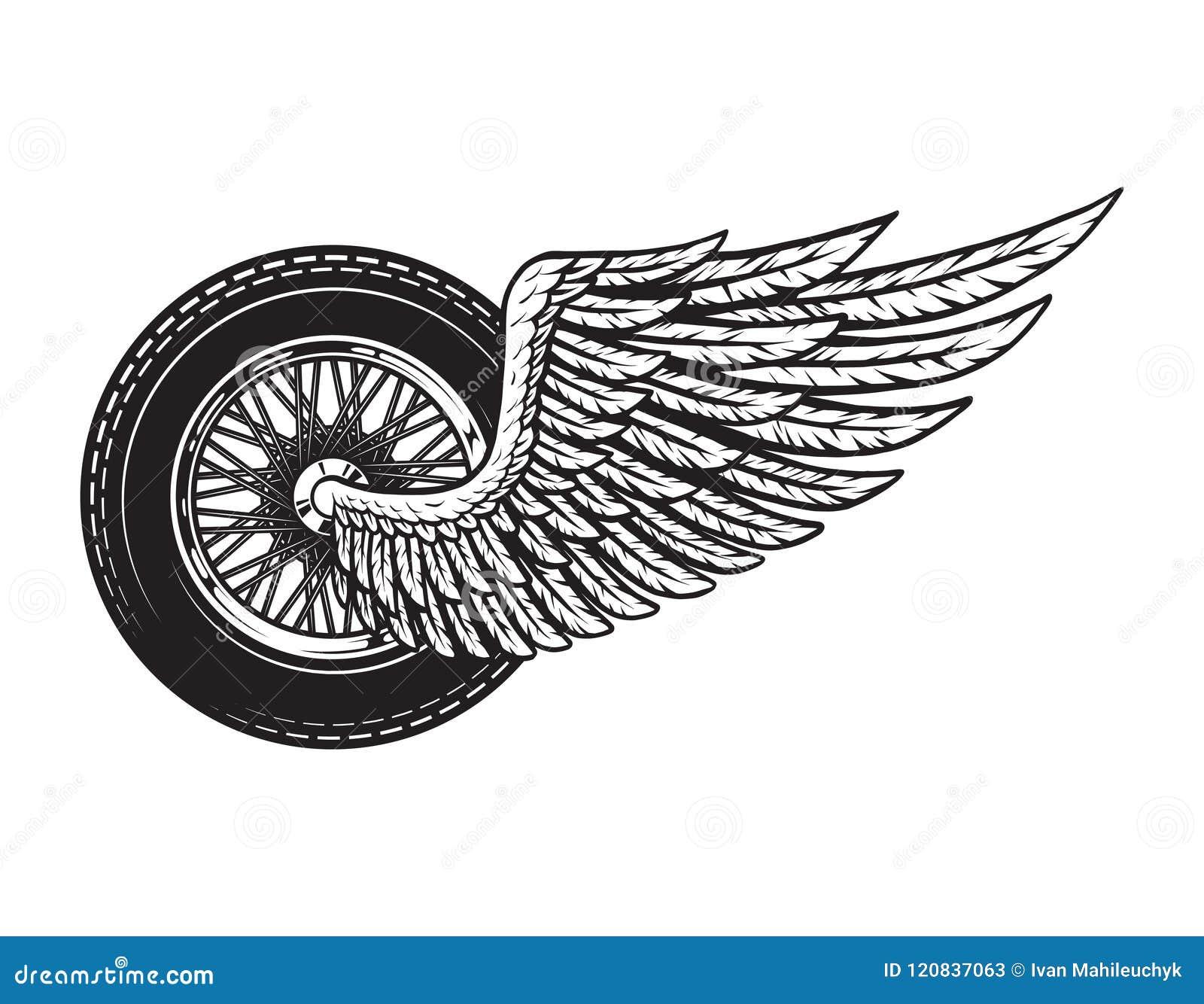 Het uitstekende gevleugelde concept van het motorfietswiel