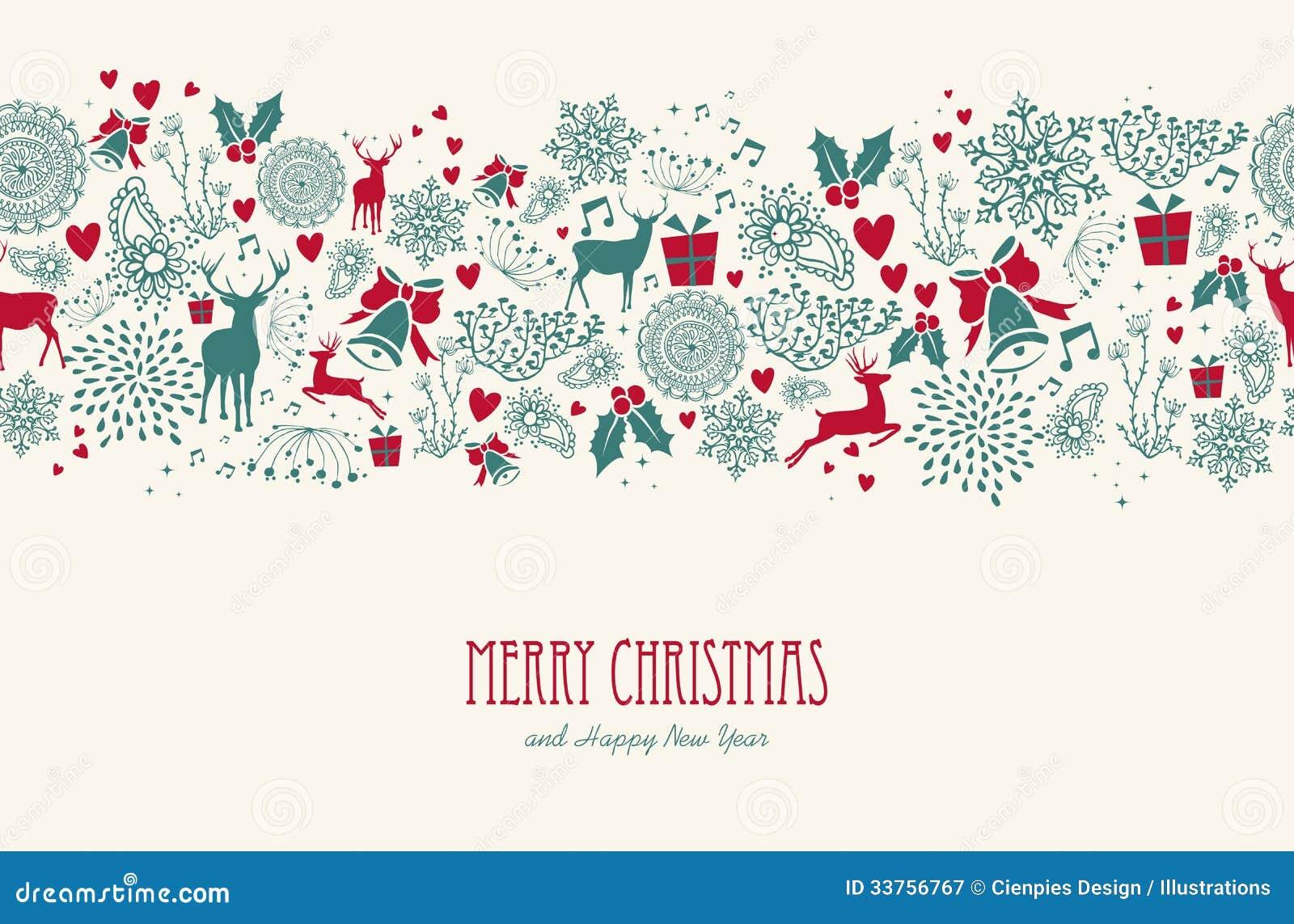 Het uitstekende naadloze patroon van het Kerstmisrendier backgr