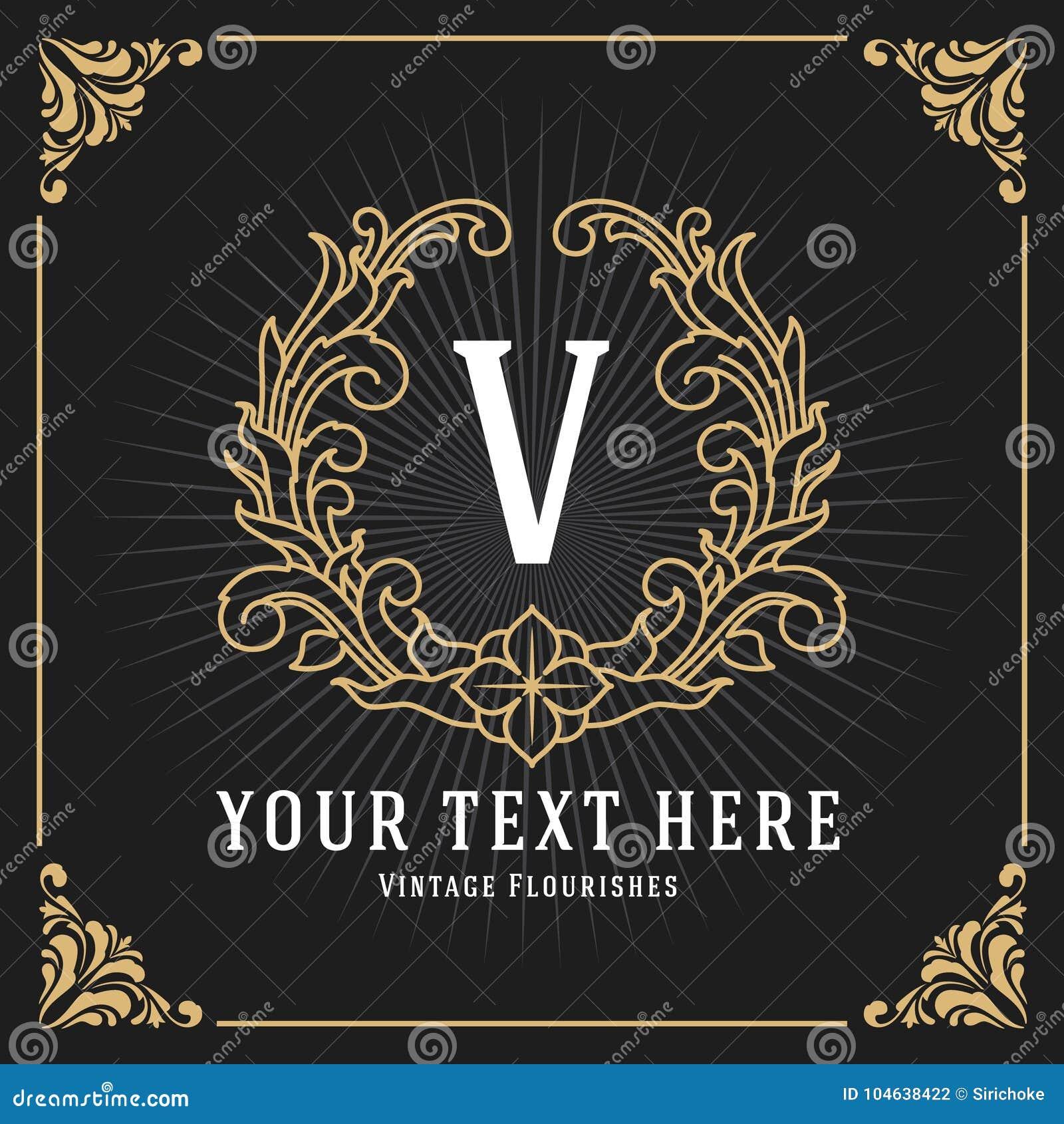 Download Het Uitstekende Ontwerp Van Het De Bannermalplaatje Van Het Luxemonogram Vector Illustratie - Illustratie bestaande uit illustratie, klassiek: 104638422