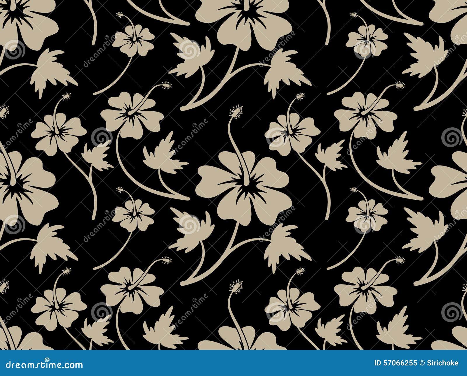 Het uitstekende ontwerp van het de Bloempatroon van de Roomhibiscus