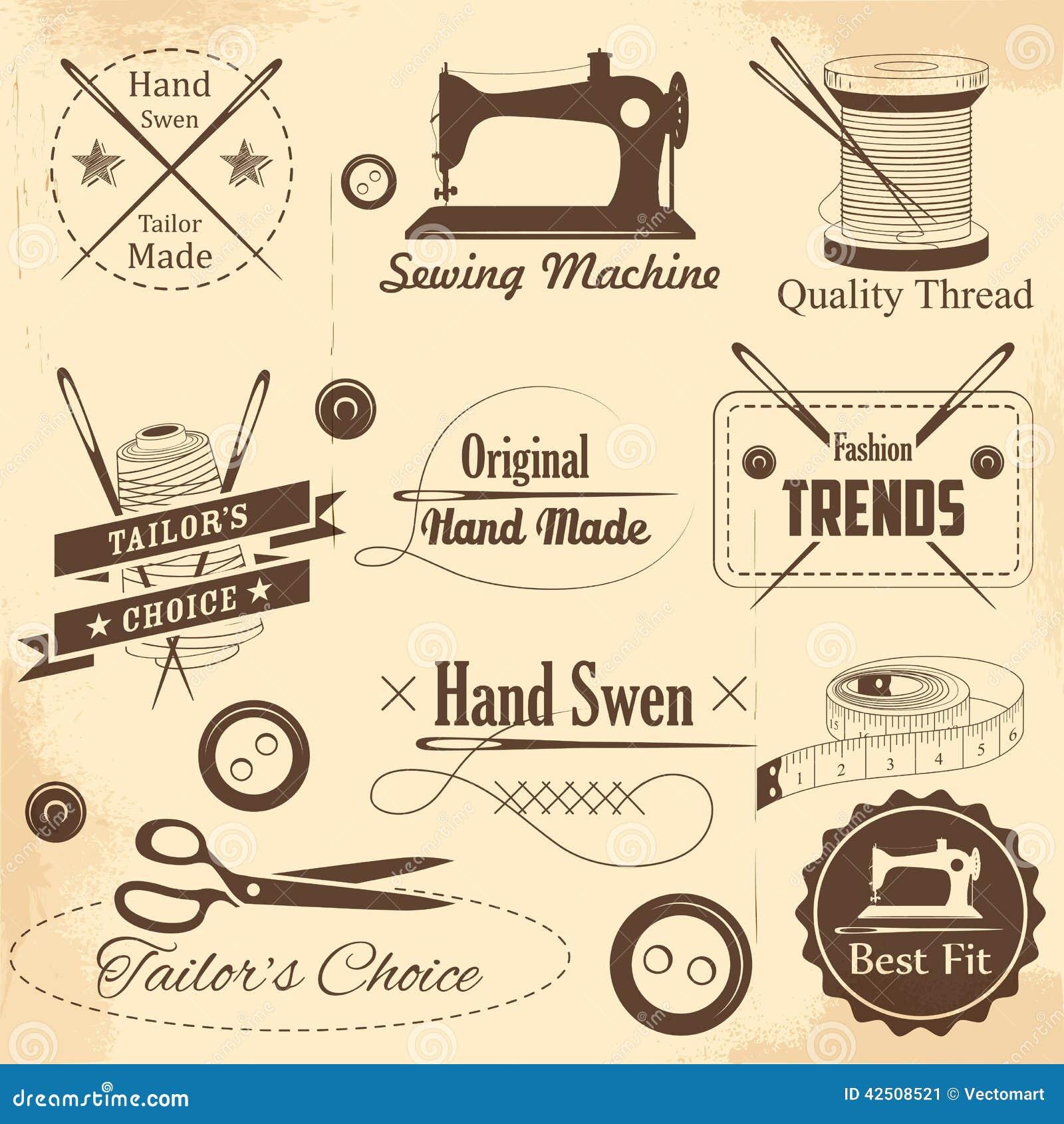 Het uitstekende stijl naaien en kleermakersetiket