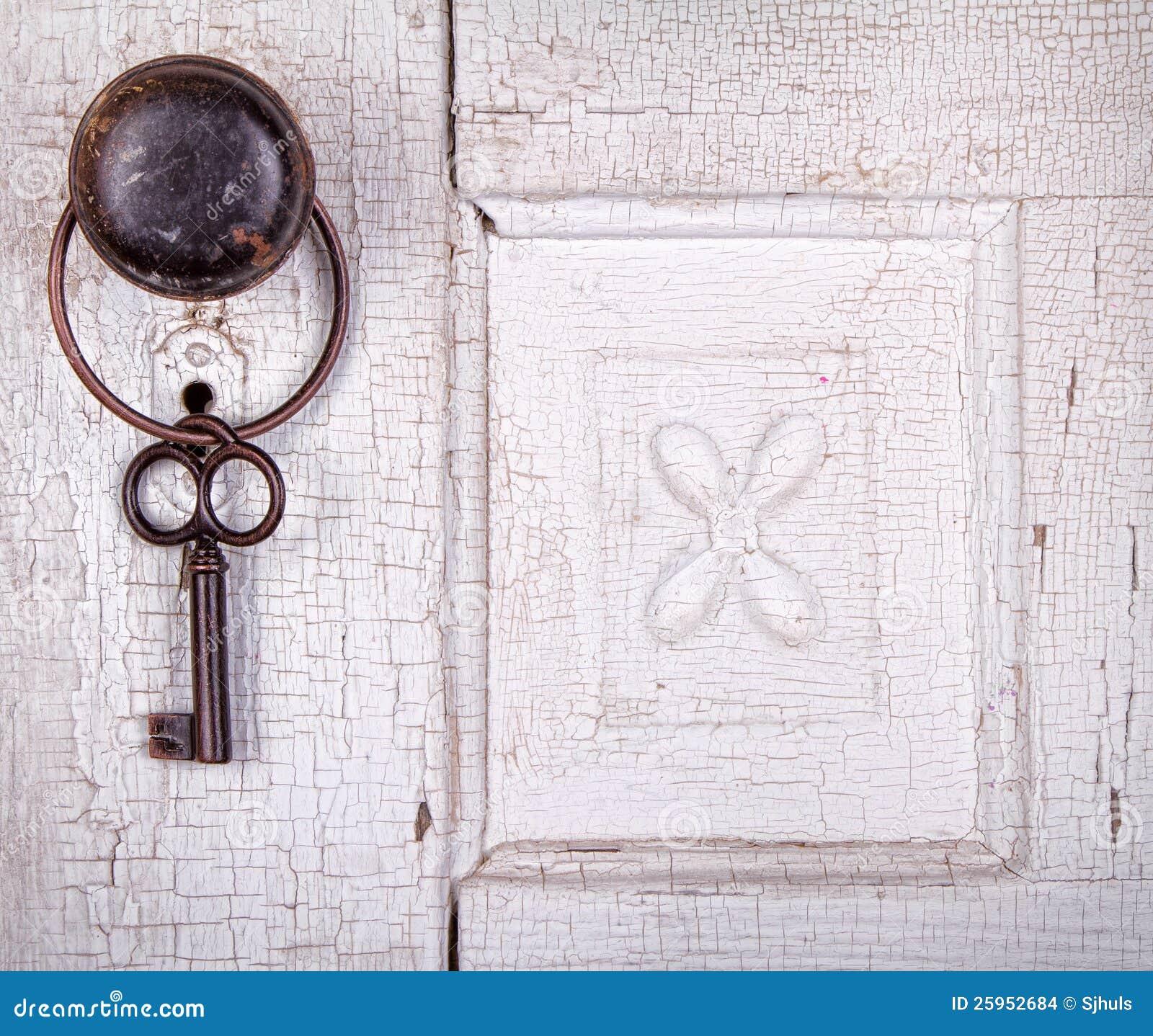 Het uitstekende zeer belangrijke hangen op een uitstekende deur