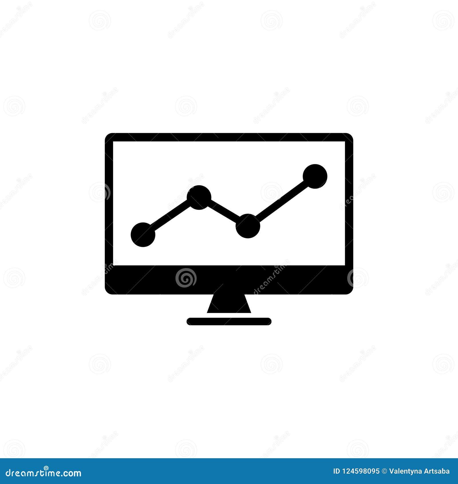 Het uitwisselen van Grafiek die Effectenbeurs Vlak Vectorpictogram analyseren