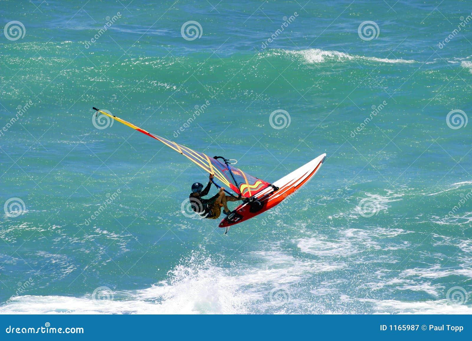 Het vangen van Lucht Windsurfing