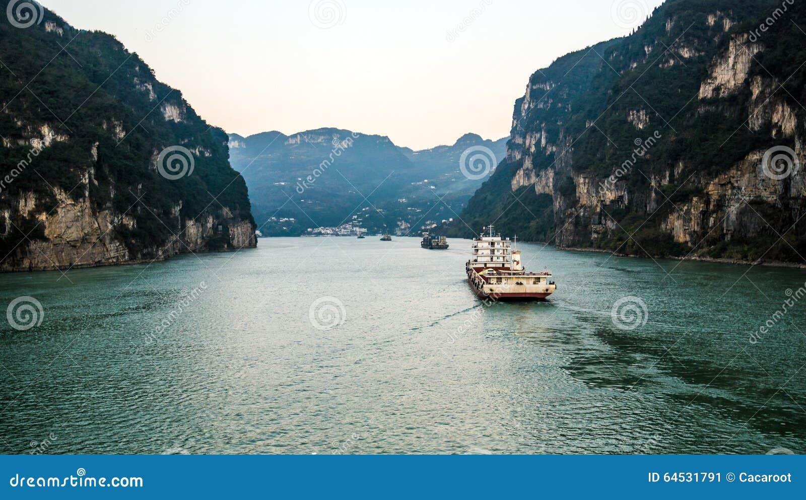 Het varen op de Yangtze-Rivier