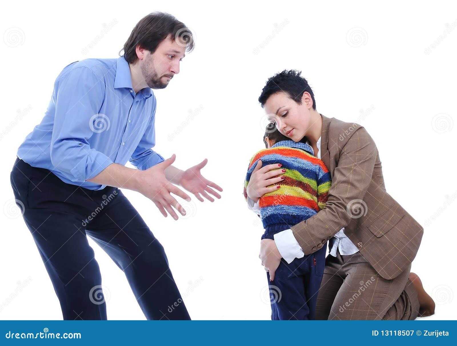 Het vechten van de familie