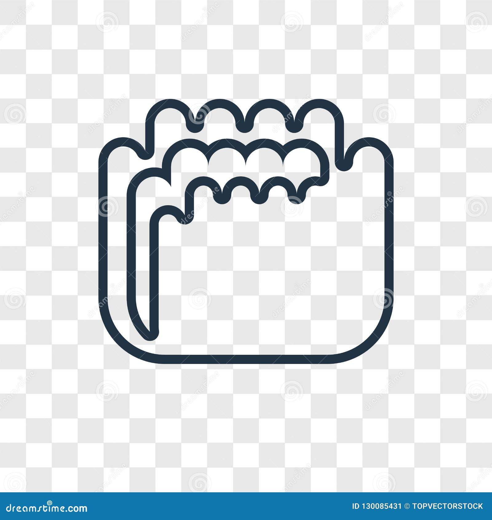 Het vector lineaire die pictogram van het vormconcept op transparante backgro wordt geïsoleerd