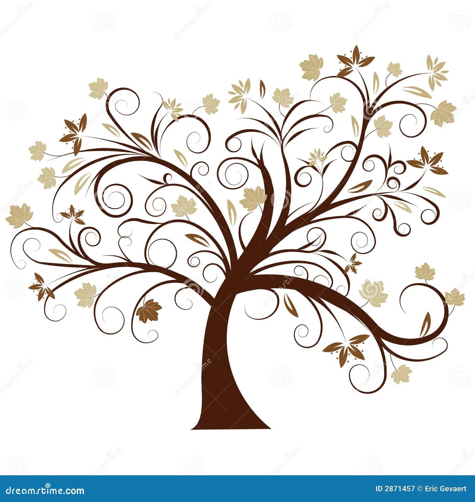 Het vector ontwerp van de de herfstboom