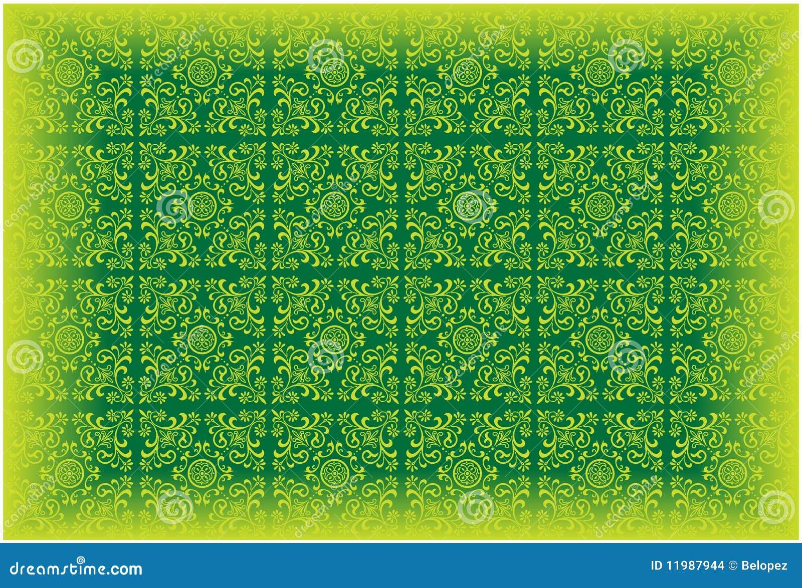 Het vector patroon van het behang kleurde groen vector illustratie afbeelding 11987944 - Groen behang van het water ...
