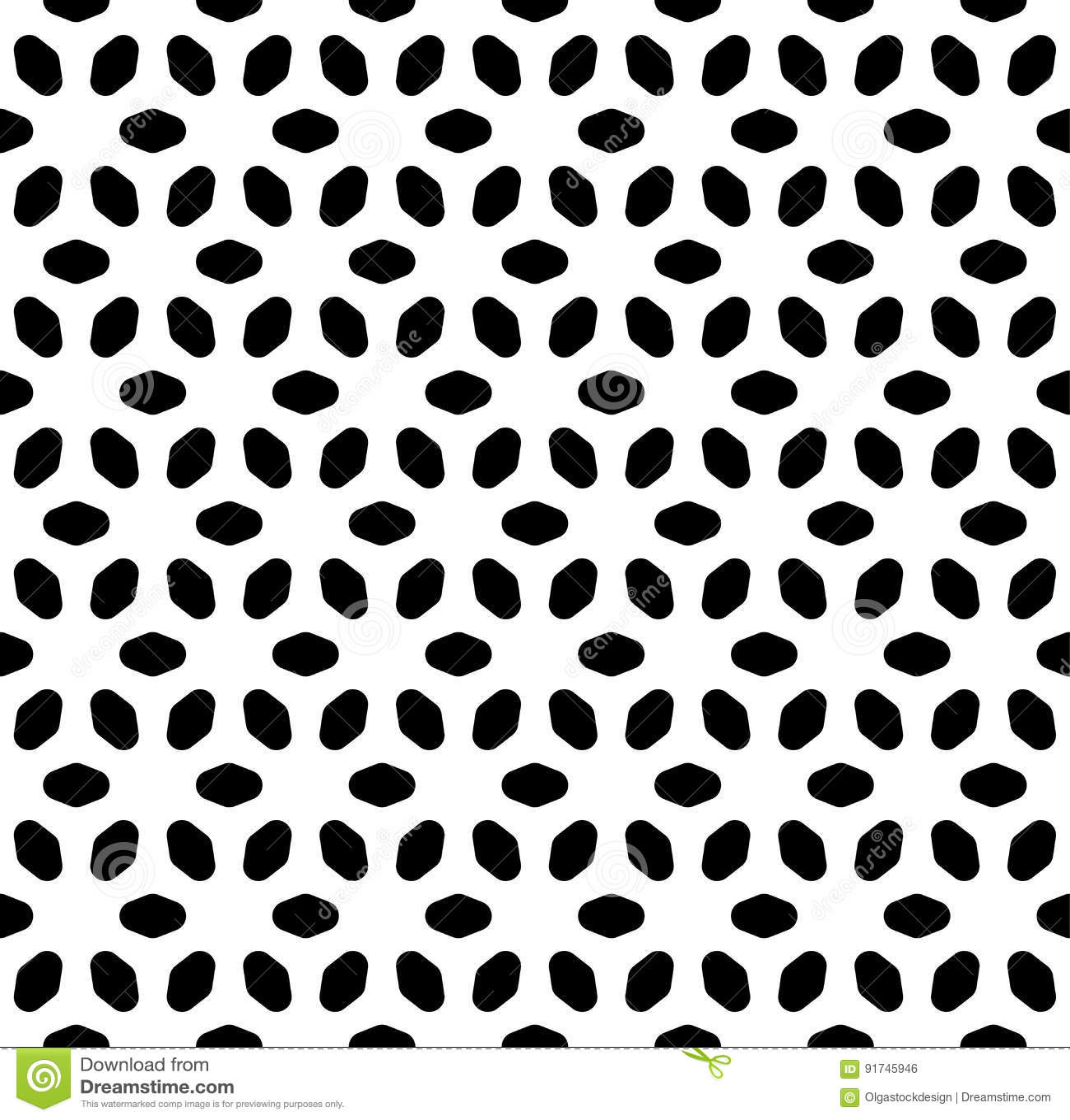 Het vector zwart-wit naadloze patroon, vat geometrische bloemenornamenttextuur samen