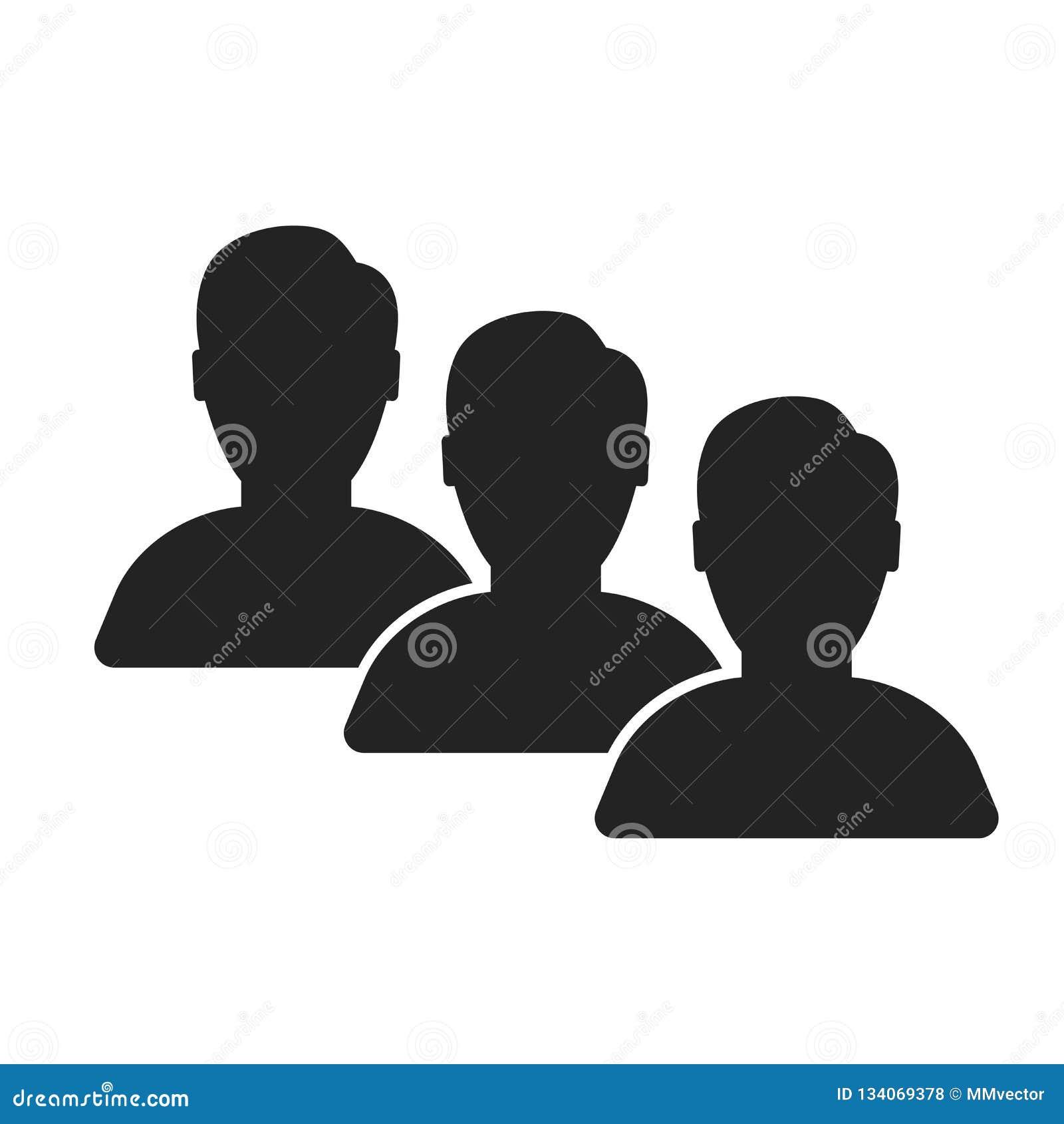 Het het vectordieteken en symbool van het gebruikerspictogram op witte achtergrond, het concept van het Gebruikersembleem wordt g
