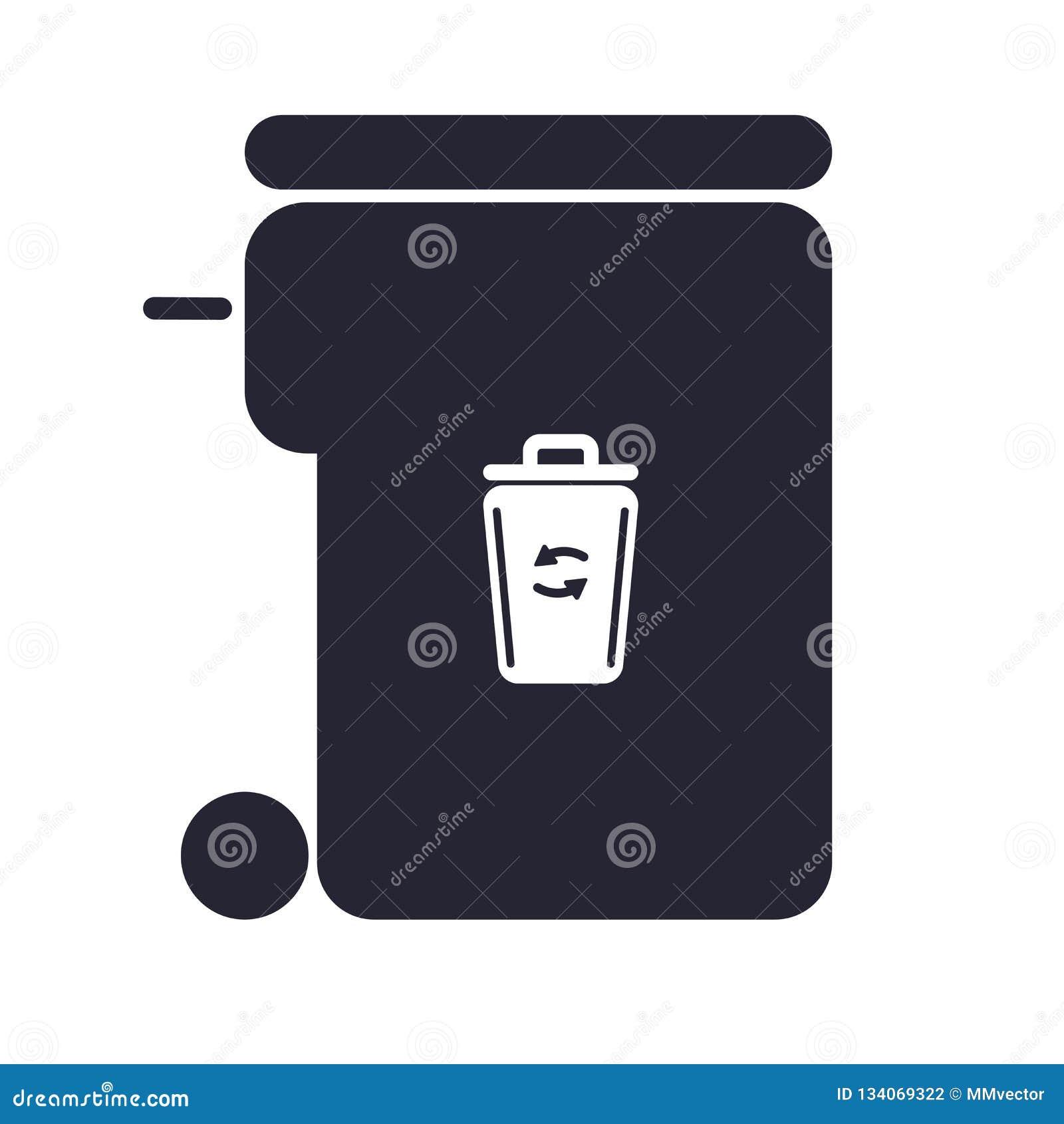 Het het vectordieteken en symbool van het huisvuilpictogram op witte achtergrond, het concept van het Huisvuilembleem wordt geïso