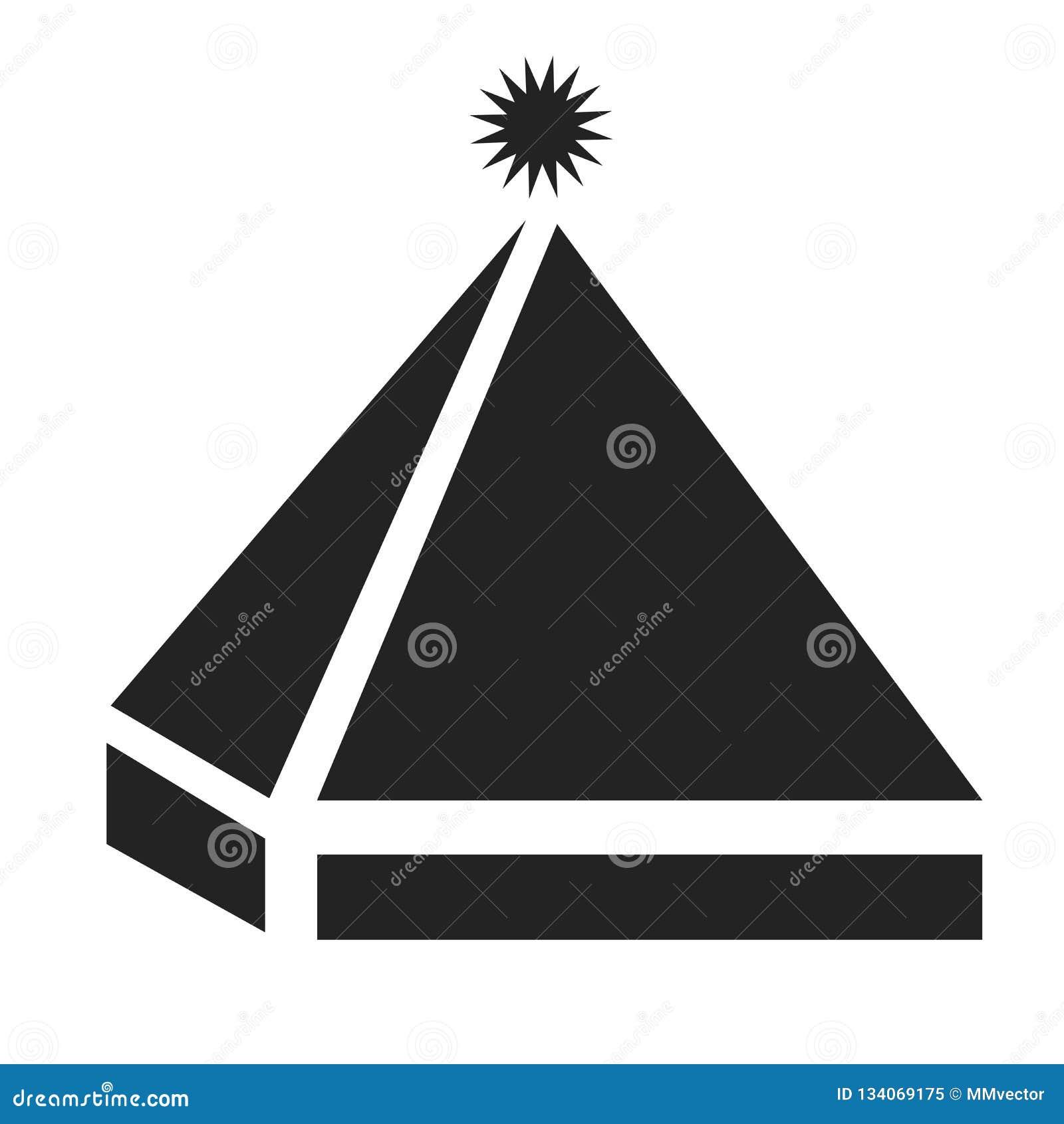 Het het vectordieteken en symbool van het piramidepictogram op witte achtergrond, het concept van het Piramideembleem wordt geïso