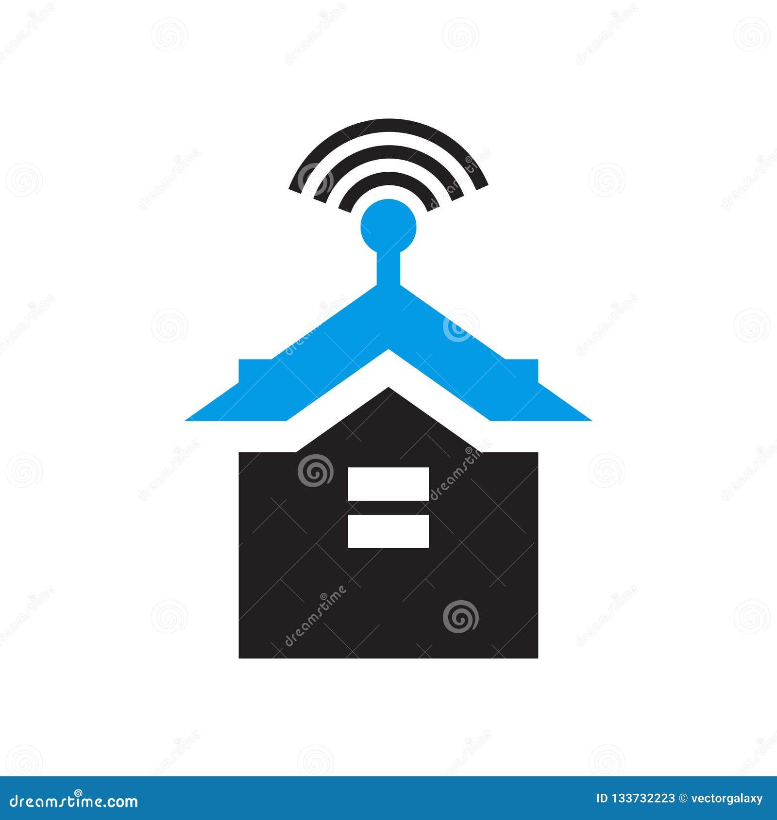 Het het vectordieteken en symbool van het Smarthomepictogram op witte achtergrond, Smarthome-embleemconcept wordt geïsoleerd