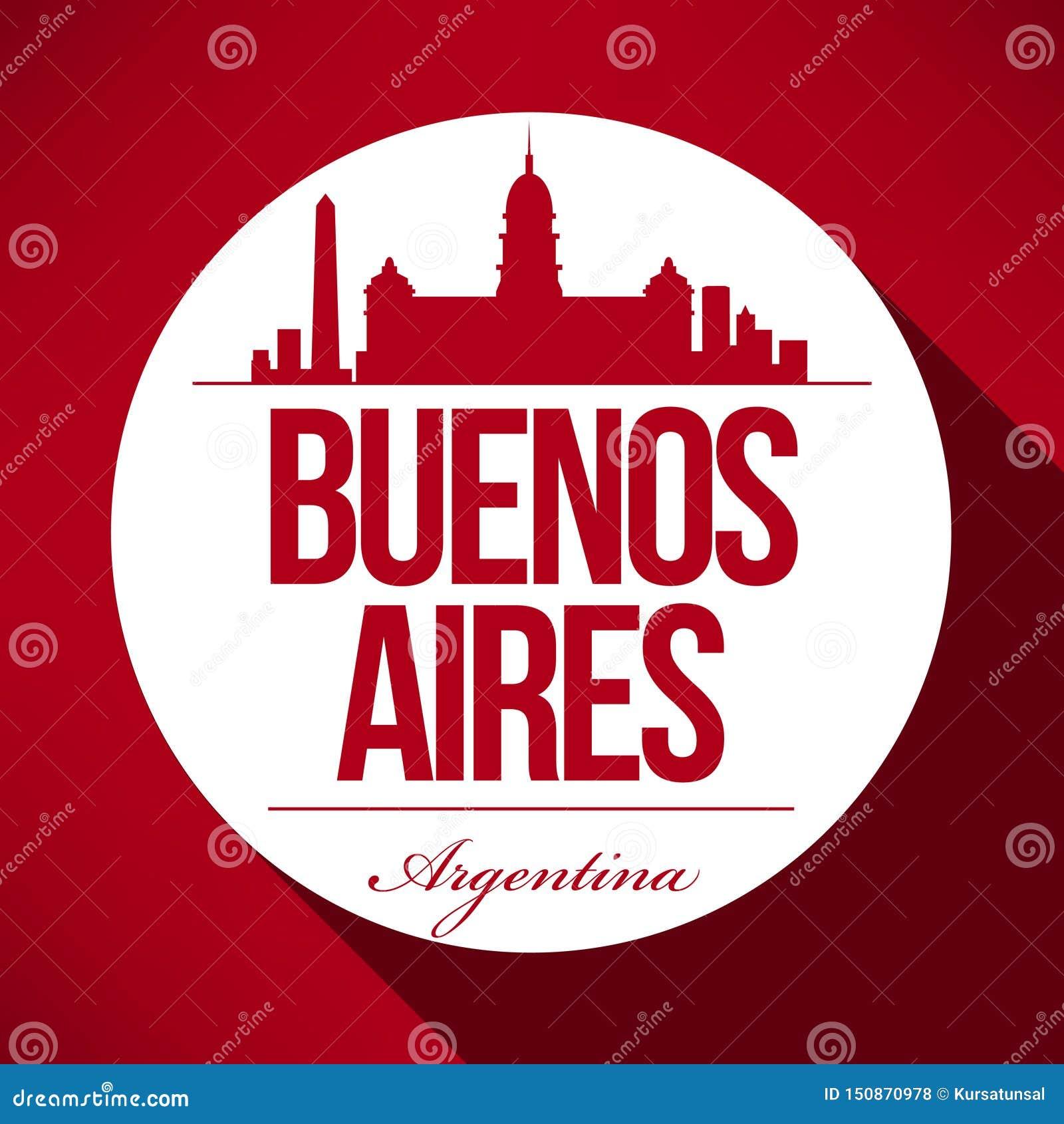 Het vectorontwerp van de de Stadshorizon van Buenos aires
