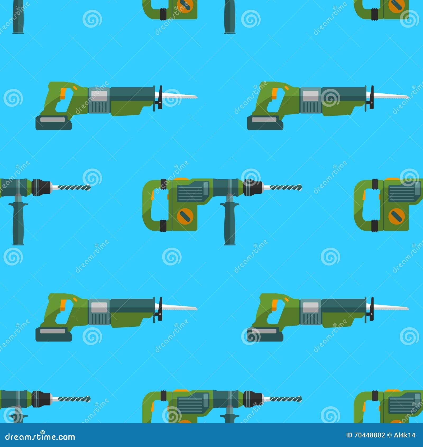 Het vectorpatroon van de perforator vergeldende zaag