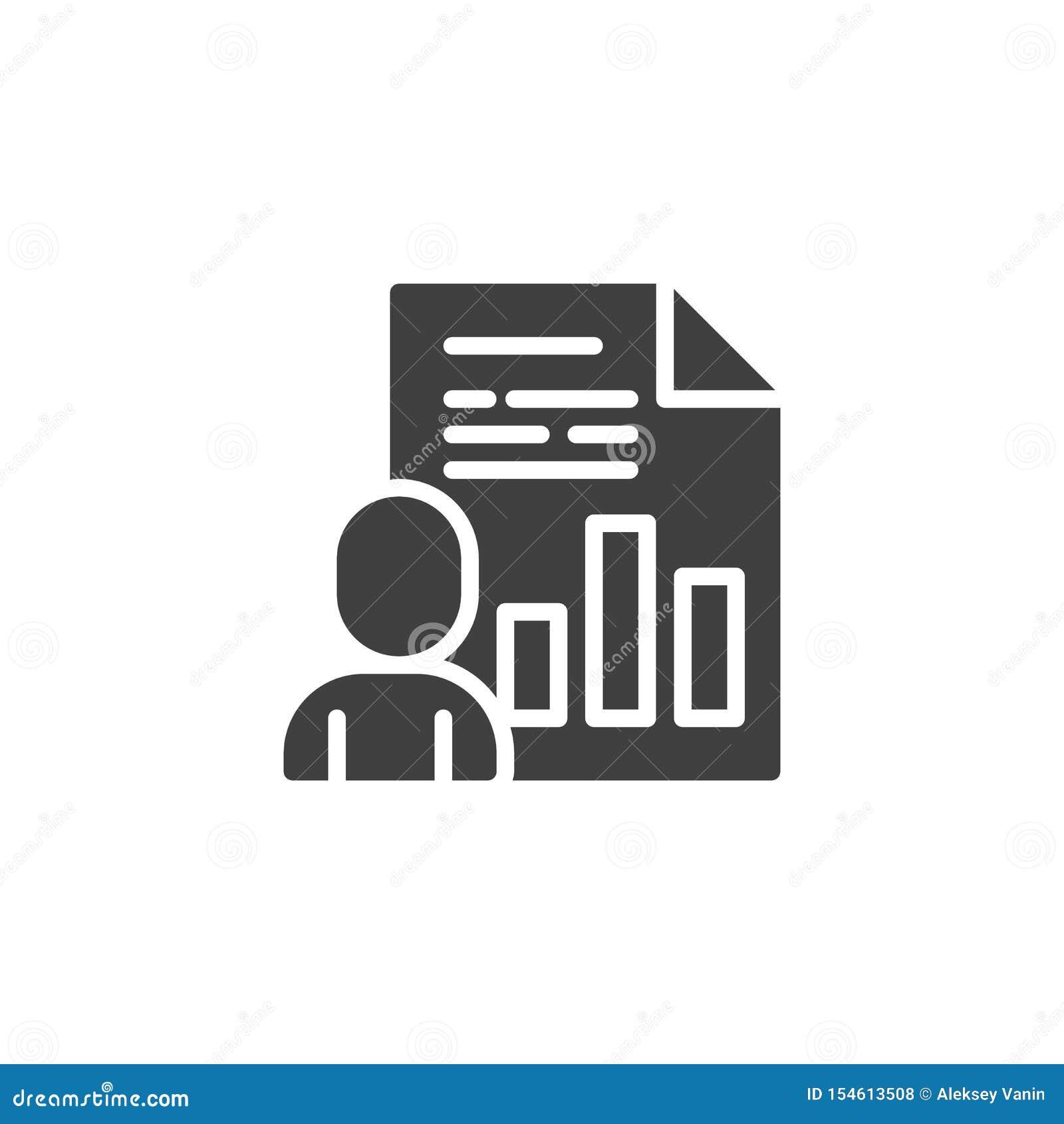 Het vectorpictogram van het bedrijfspresentatiedocument