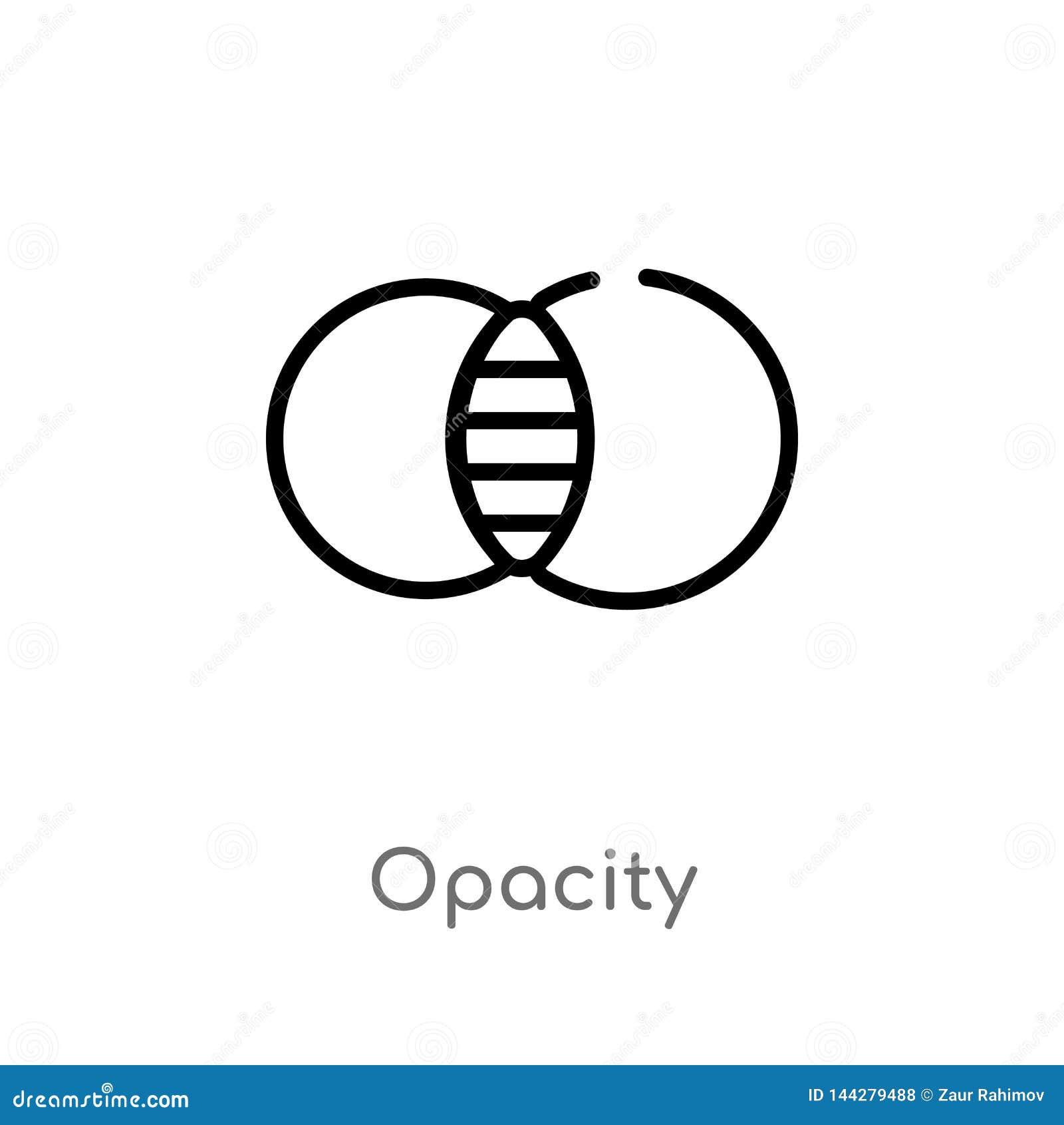Het vectorpictogram van de overzichtsopaciteit de ge?soleerde zwarte eenvoudige illustratie van het lijnelement van geeft hulpmid