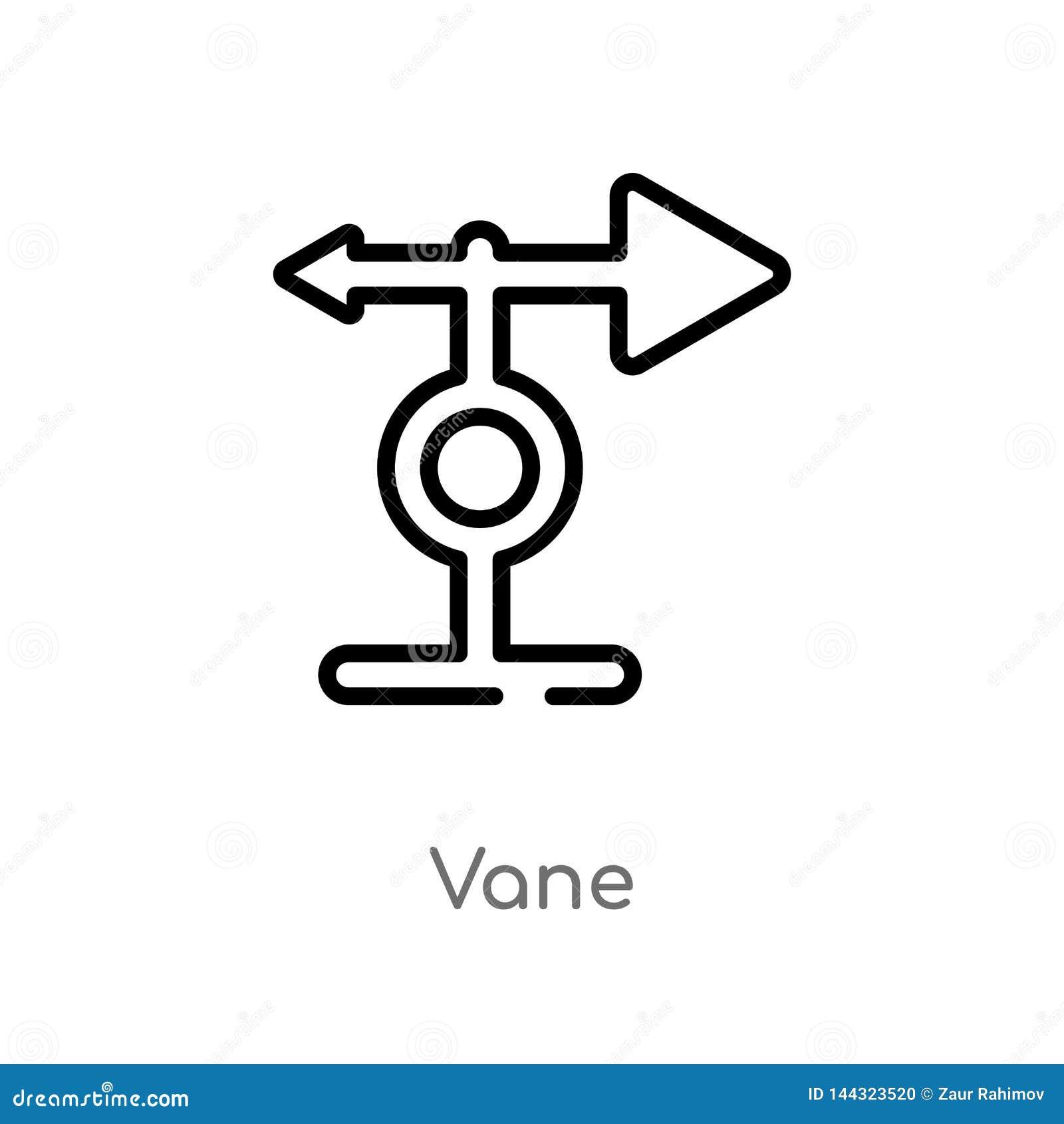 Het vectorpictogram van de overzichtsvin de ge?soleerde zwarte eenvoudige illustratie van het lijnelement van landbouw de landbou