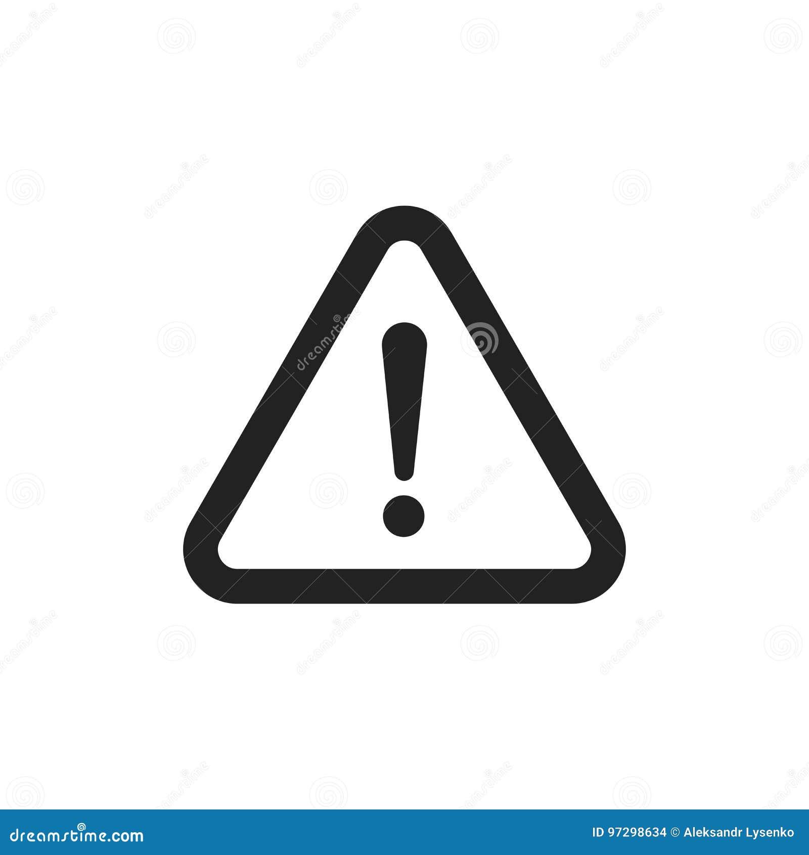 Het vectorpictogram van het gevaarsteken De illustratie van de aandachtsvoorzichtigheid Zaken