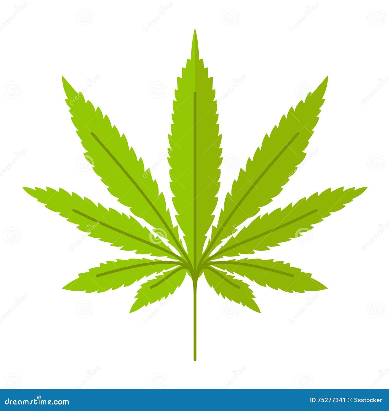 Het vectorpictogram van het marihuanablad