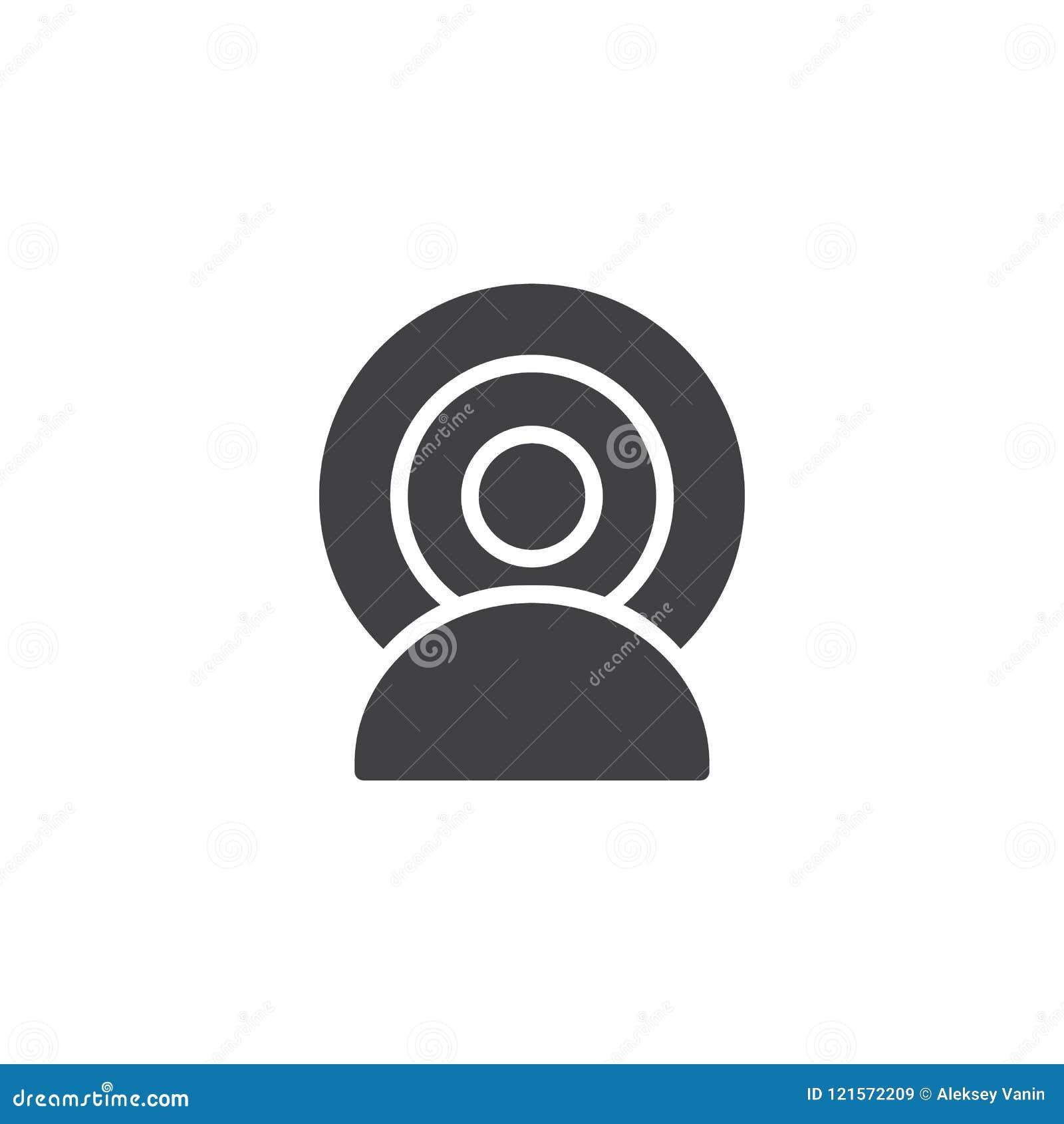 Het vectorpictogram van Person Broadcasting