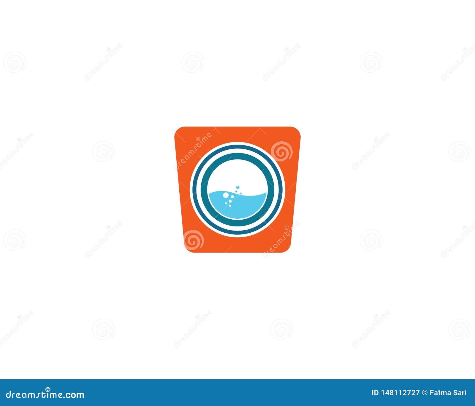 Het vectorpictogram van het wasserijembleem