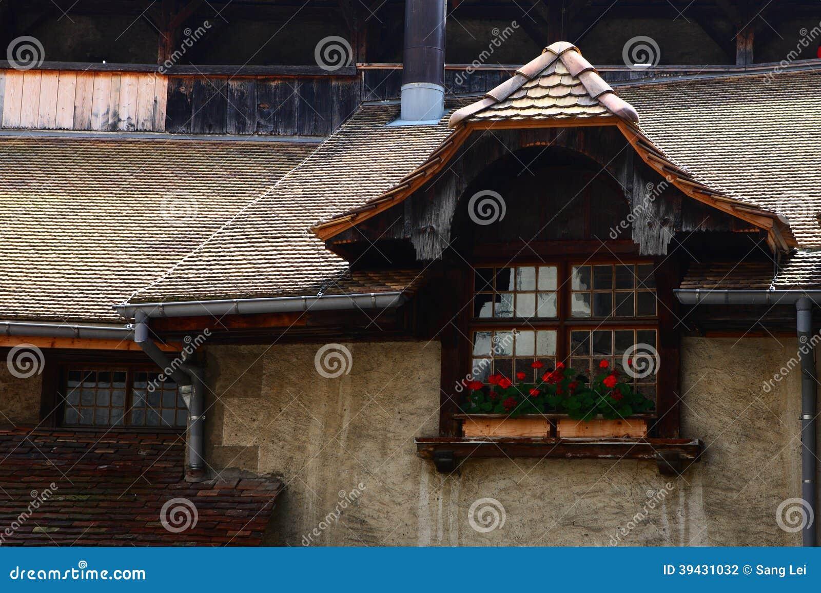 Het venster in het Chillon-Kasteel