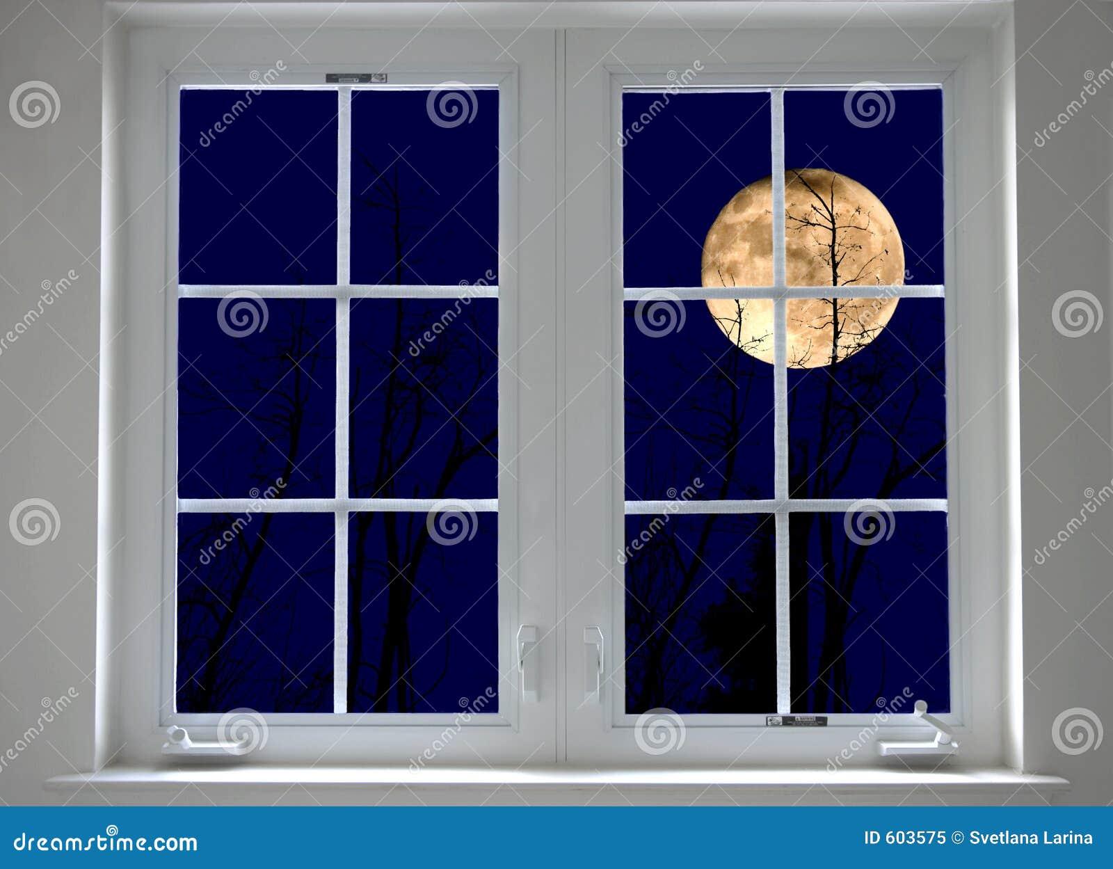 Het venster van de nacht