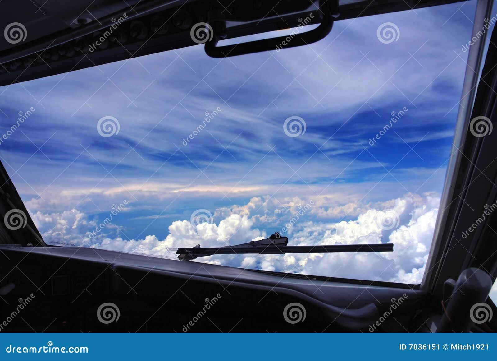 Het venstermening van de cockpit