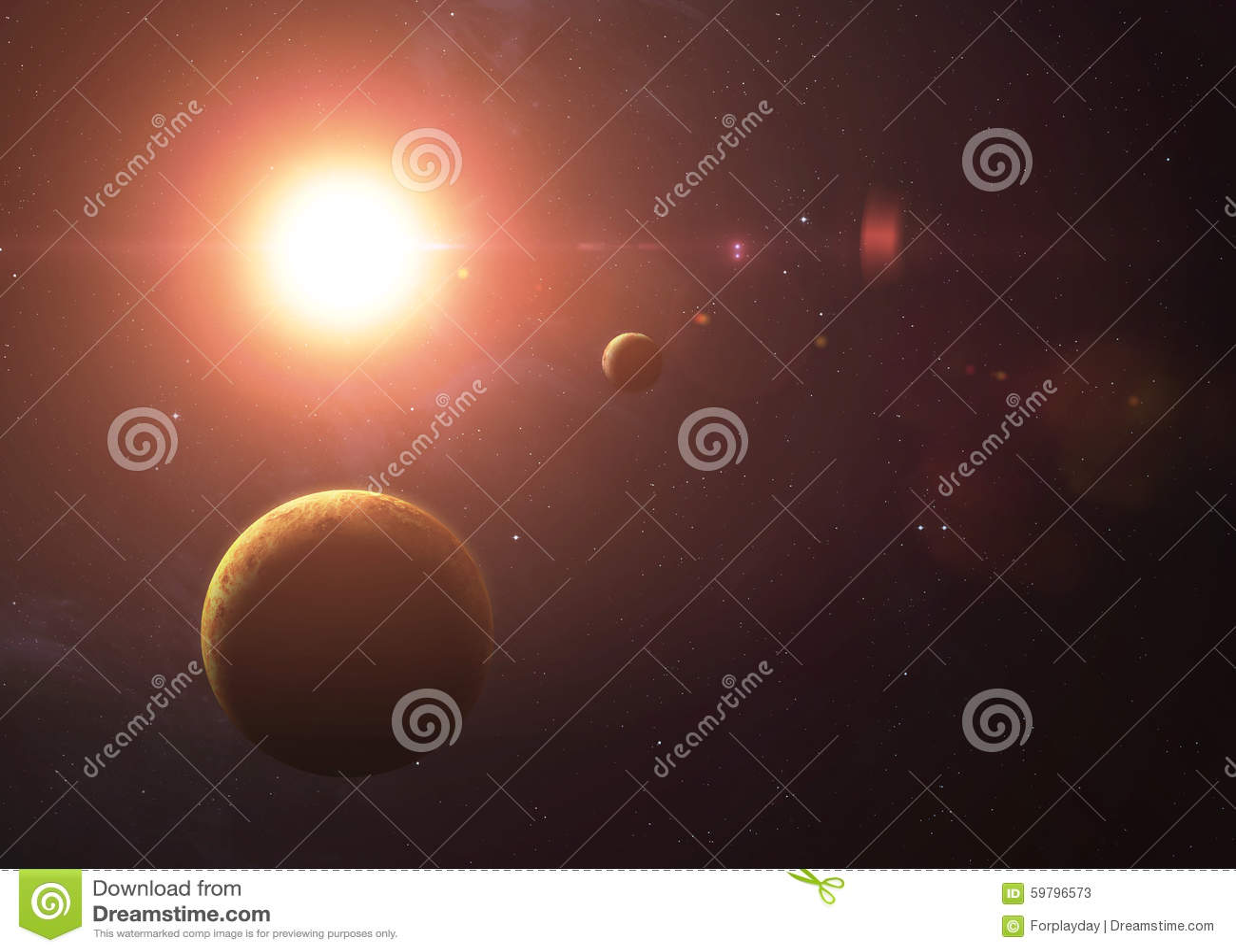 Het Venus met Mercury van het ruimte alle tonen zij