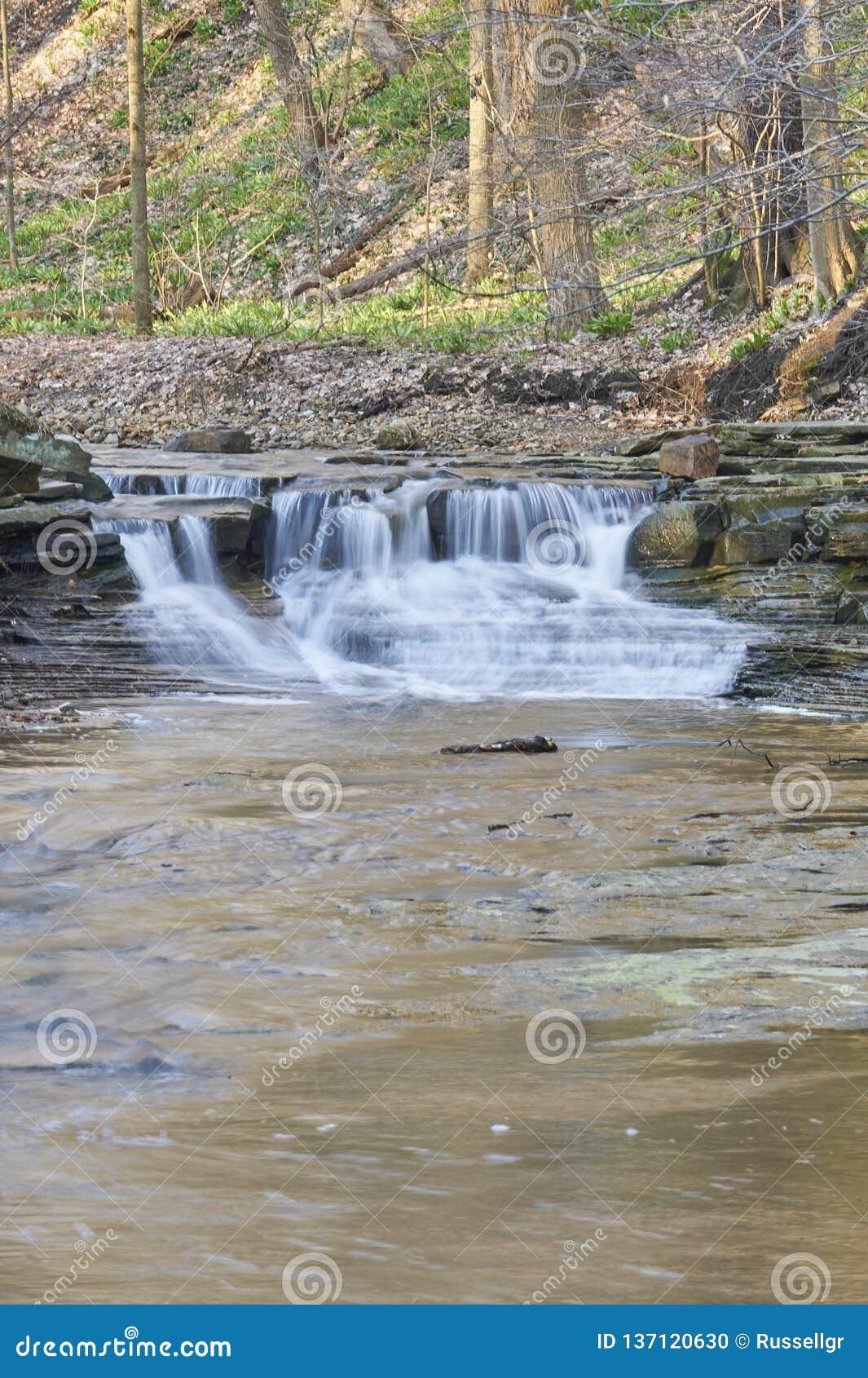 Het verdriet valt rivierstroomversnelling