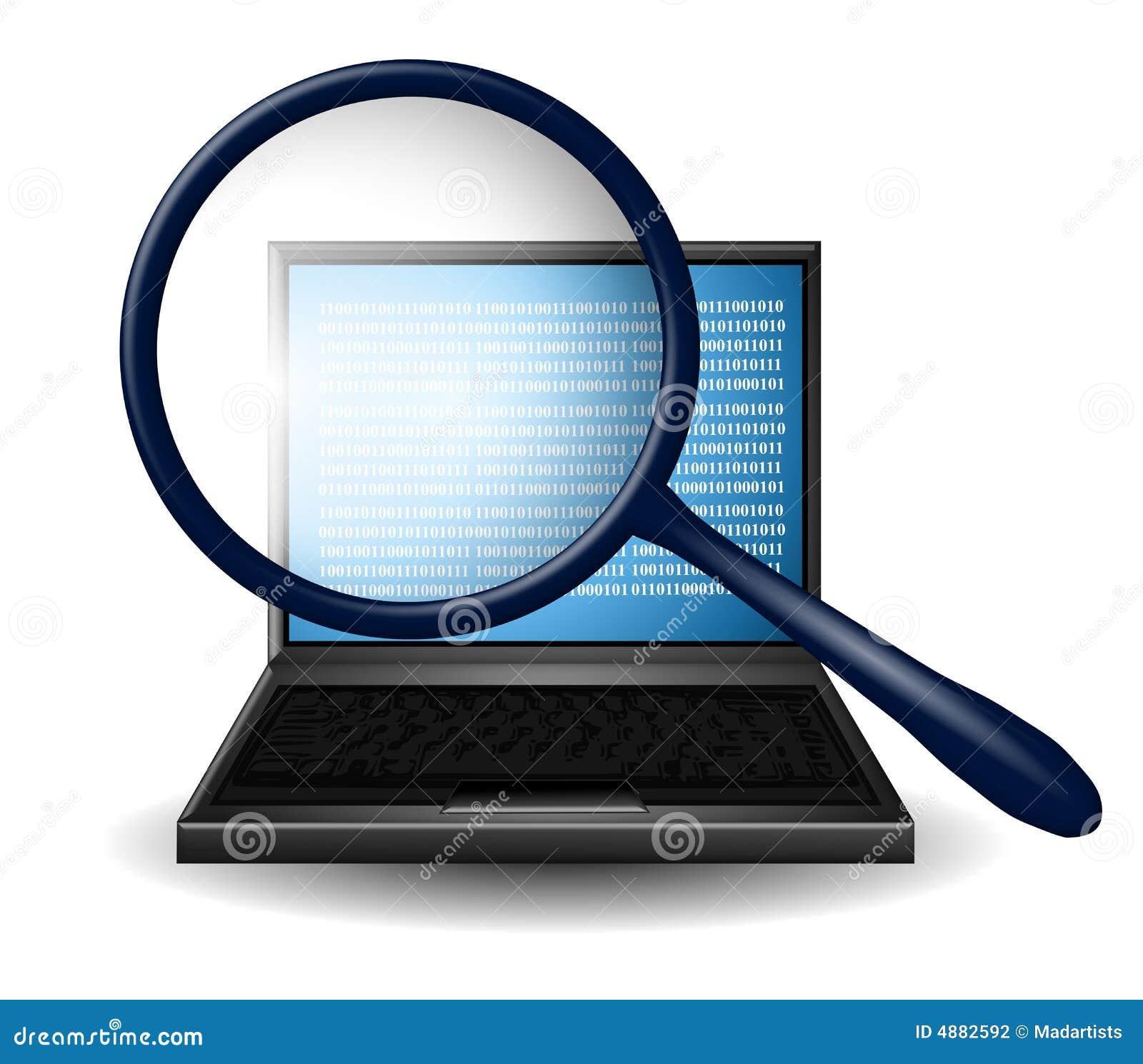 Het Vergrootglas van het Onderzoek van Internet