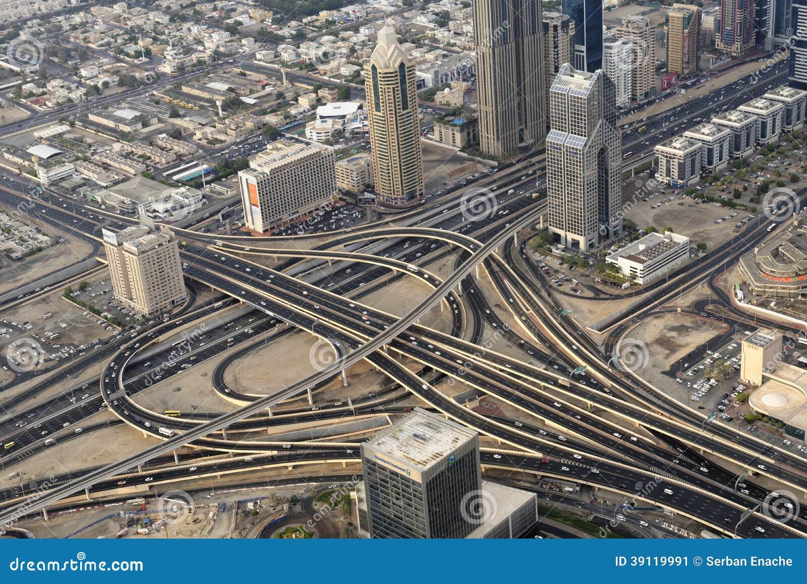 Het verkeer van Doubai