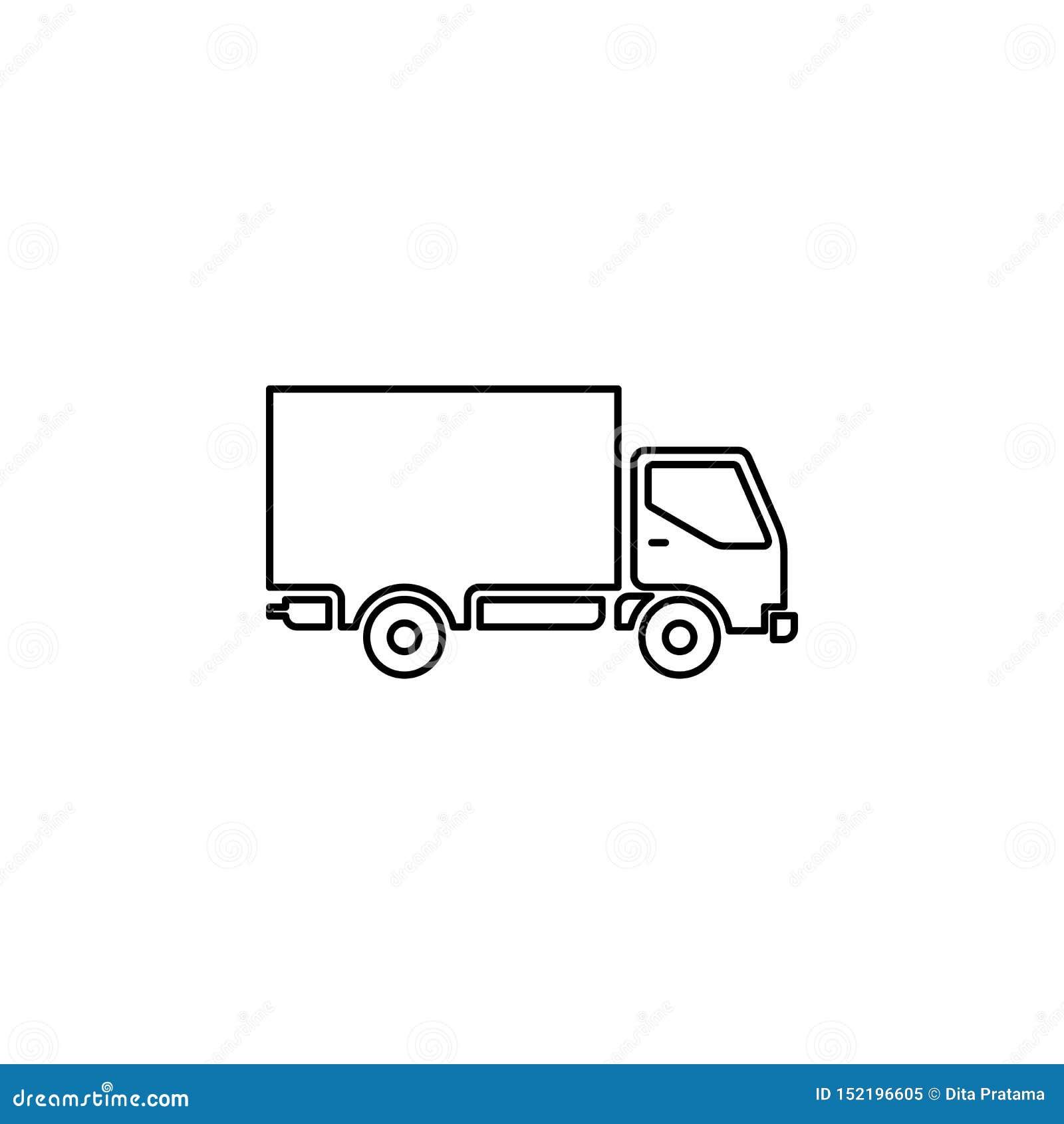 Het verschepende pictogram van het vrachtwagenoverzicht