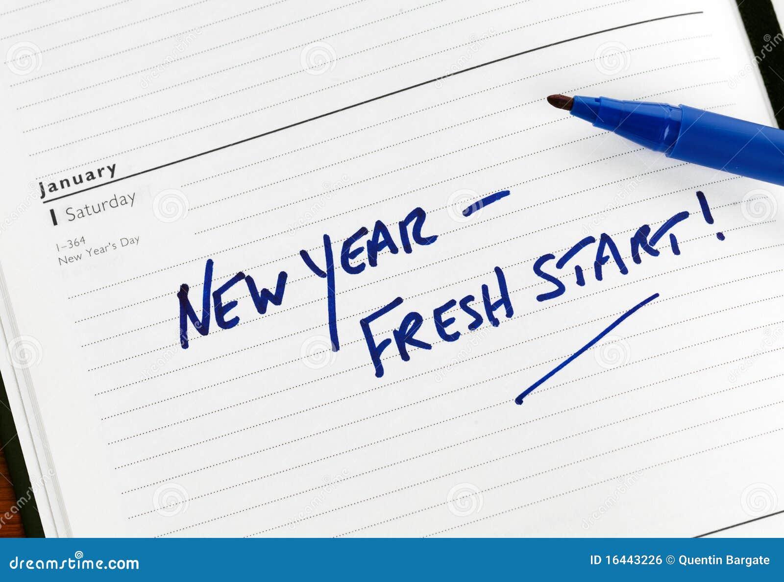 Het verse begin van het nieuwjaar