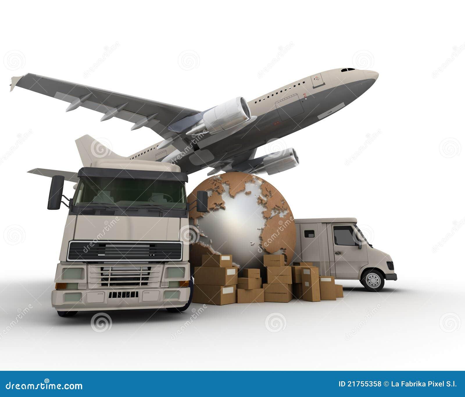 Het vervoer van de lucht en van de weg
